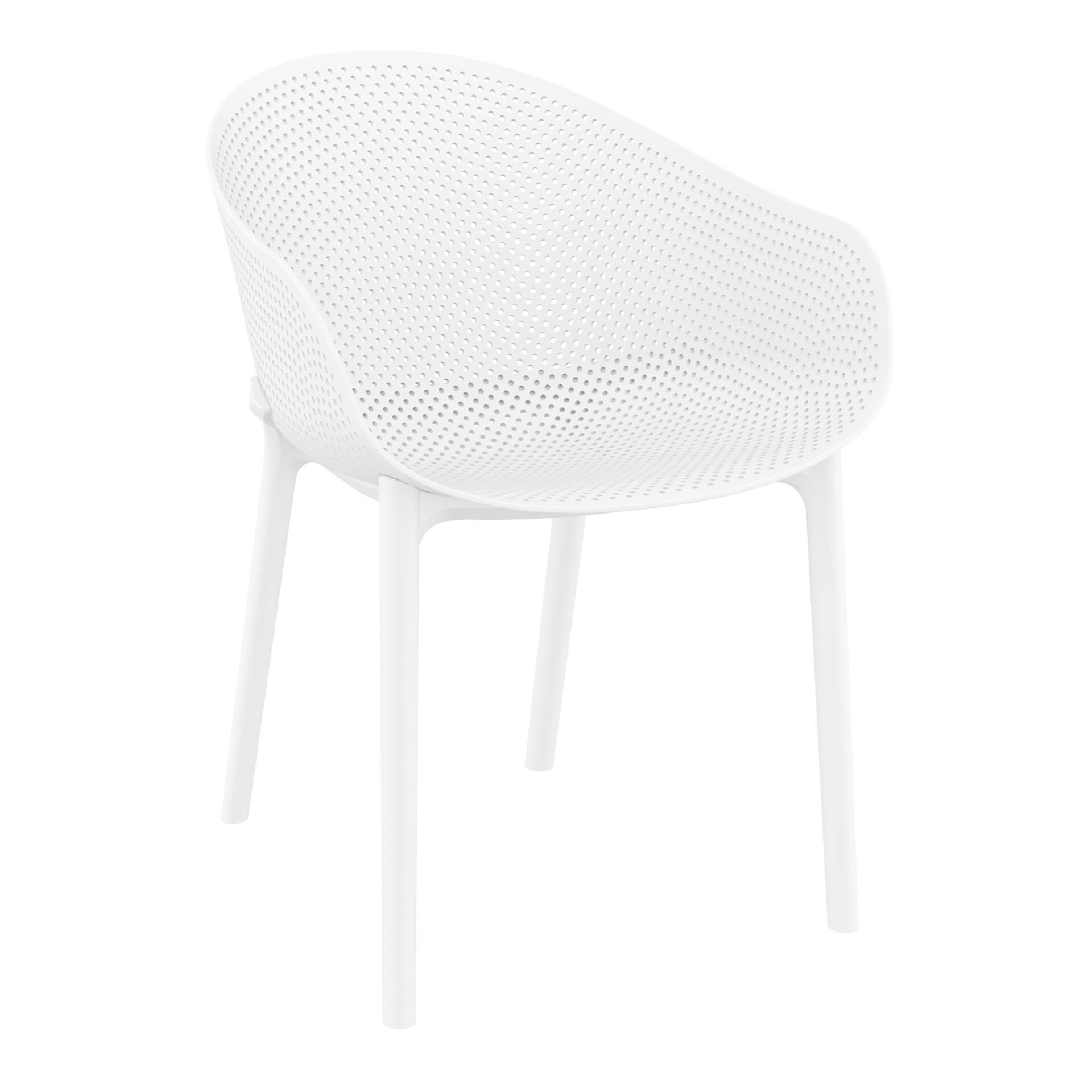 outdoor seating polypropylene sky chair white front side