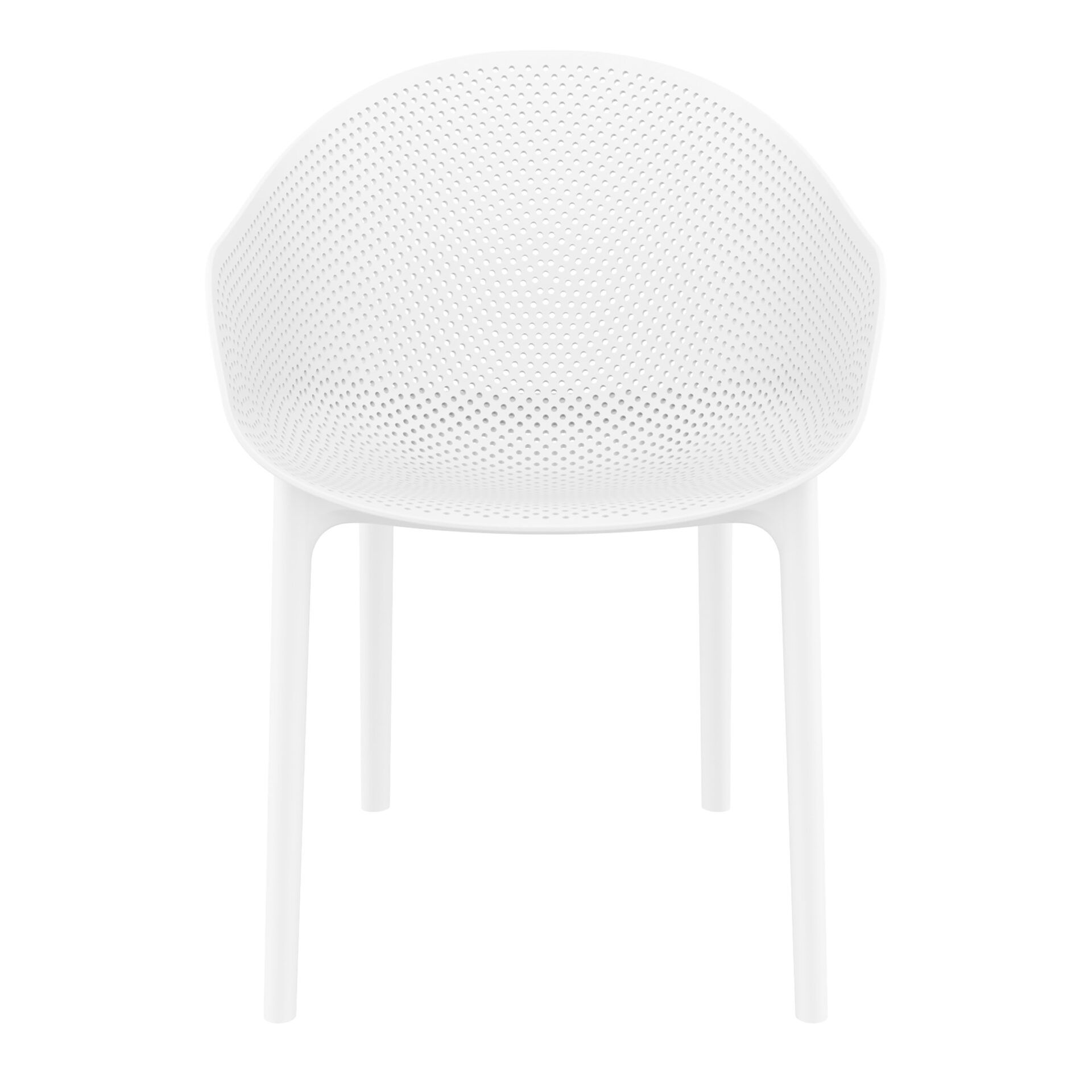 outdoor seating polypropylene sky chair white front
