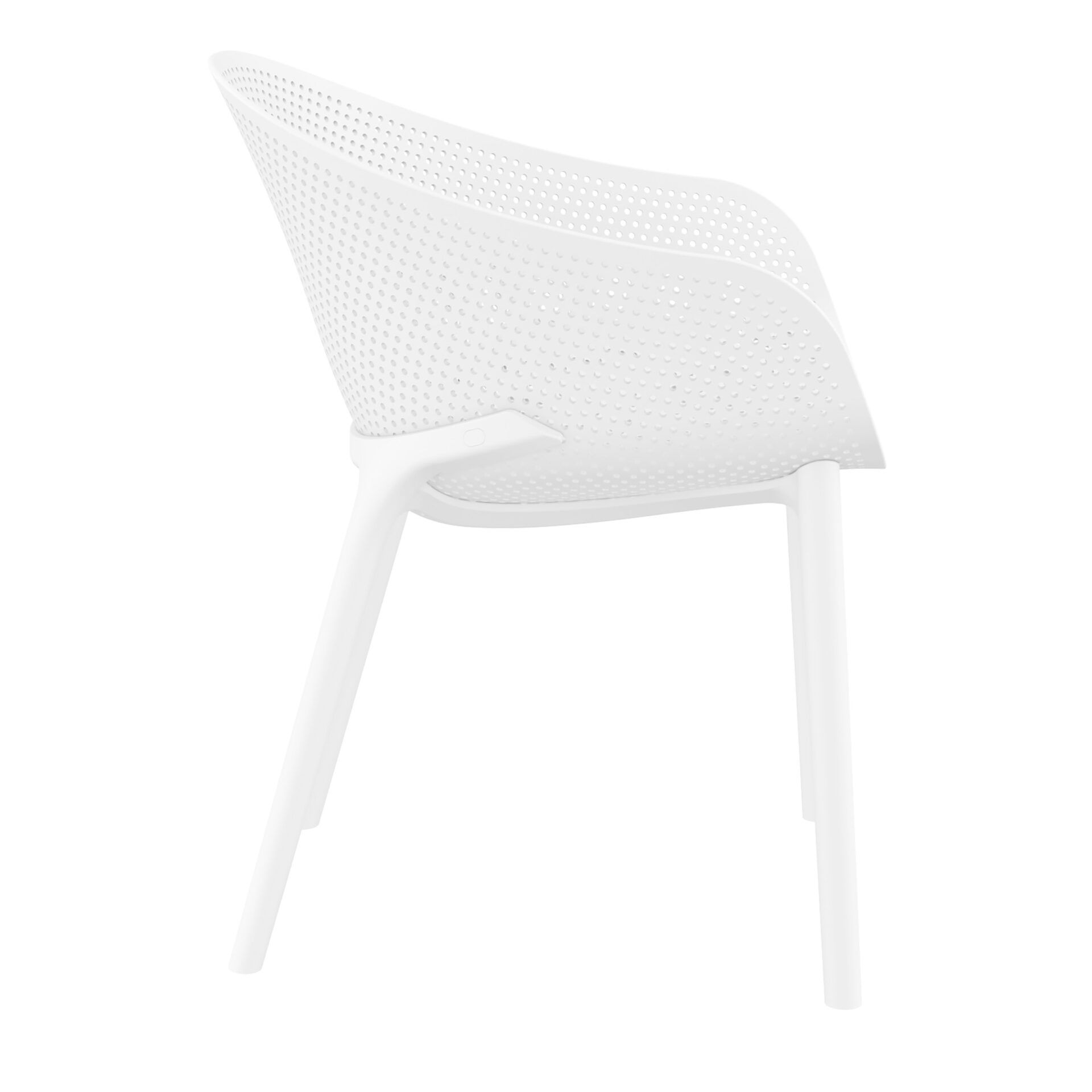 outdoor seating polypropylene sky chair white side
