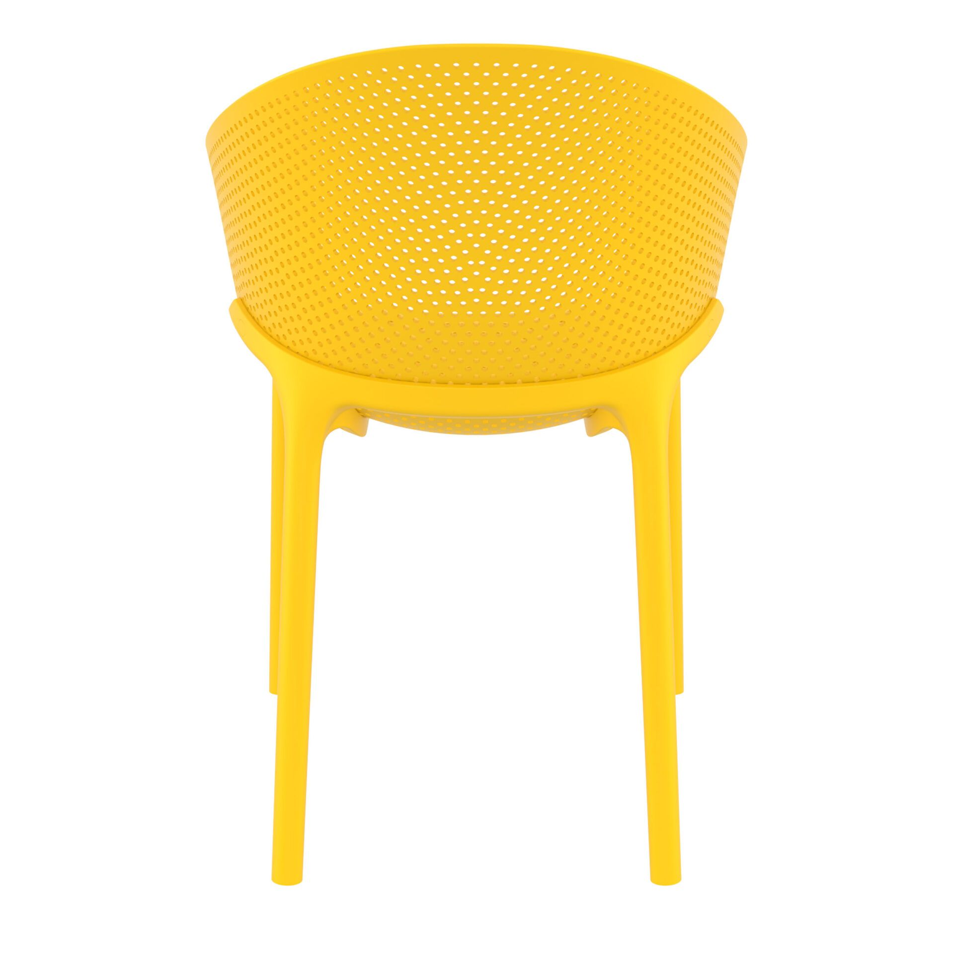 outdoor seating polypropylene sky chair yellow back
