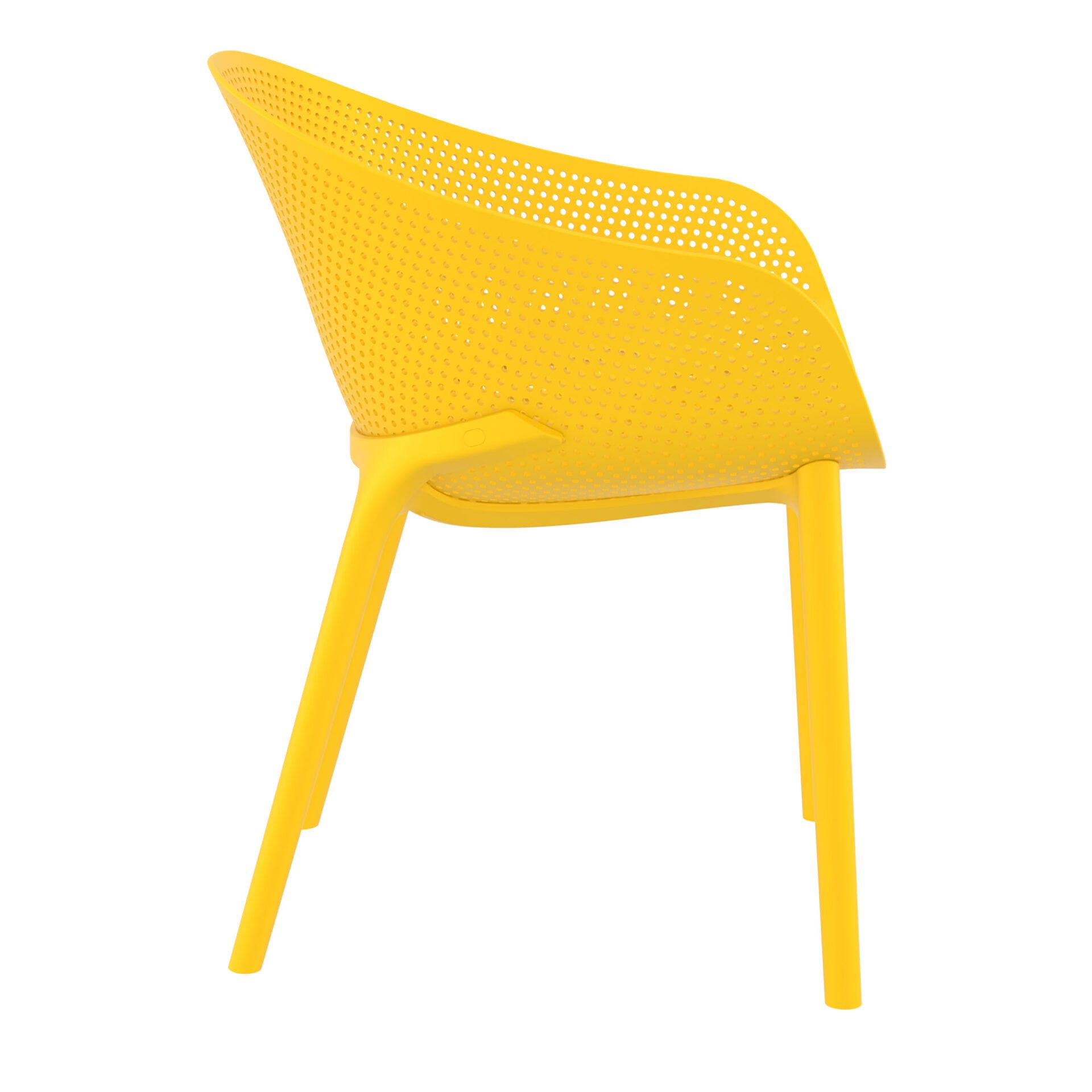 outdoor seating polypropylene sky chair yellow side