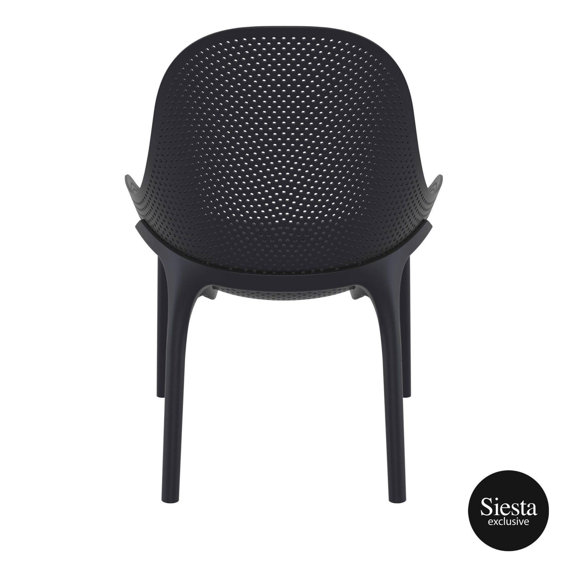outdoor seating polypropylene sky lounge black back 1