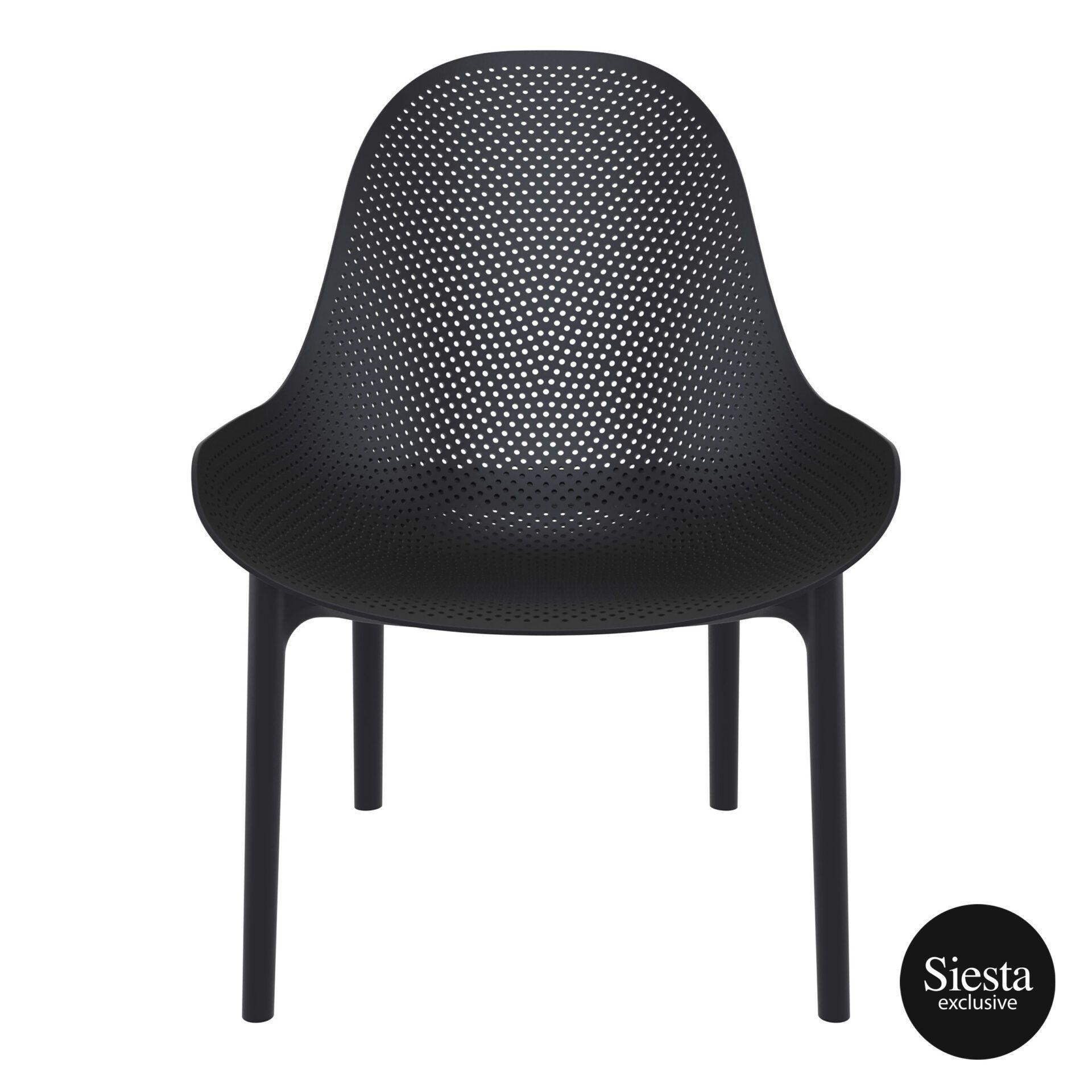 outdoor seating polypropylene sky lounge black front 1