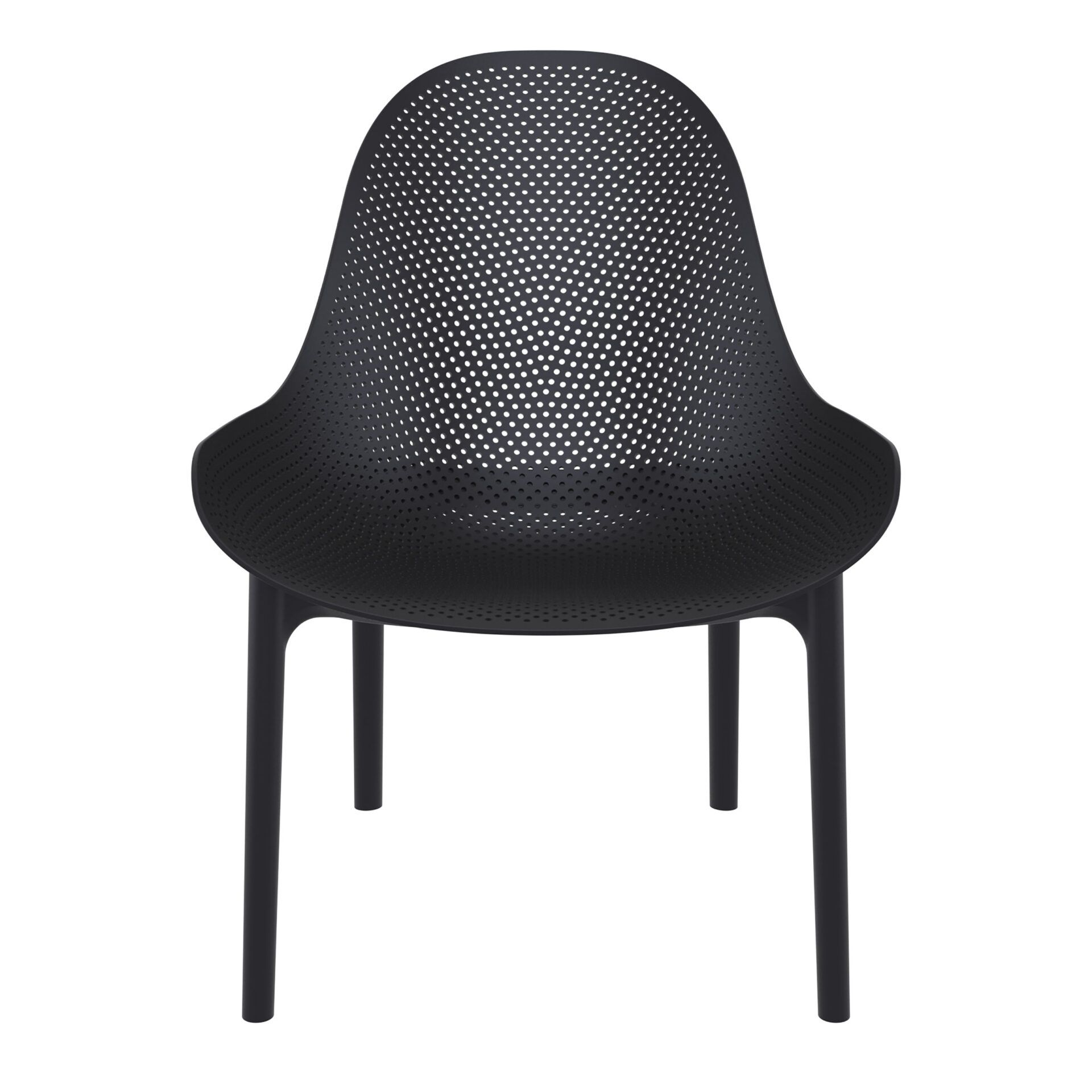 outdoor seating polypropylene sky lounge black front