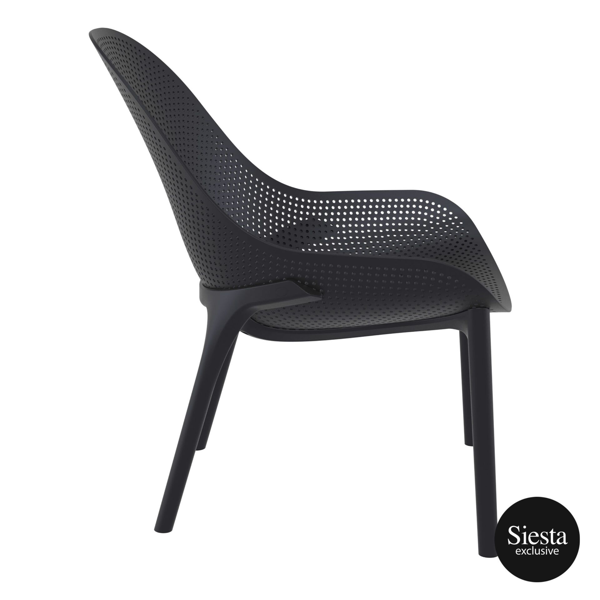 outdoor seating polypropylene sky lounge black side 1