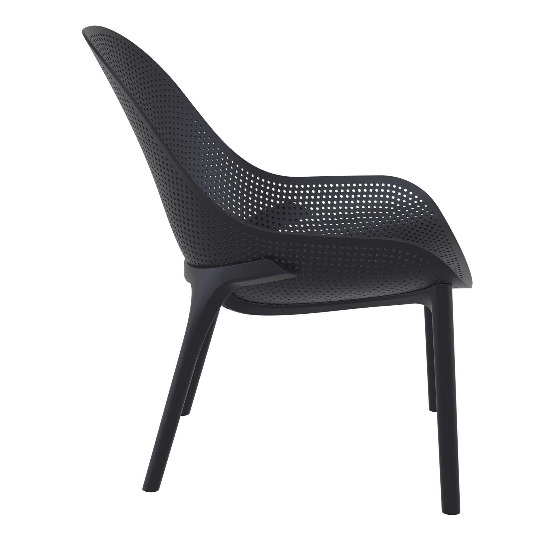 outdoor seating polypropylene sky lounge black side