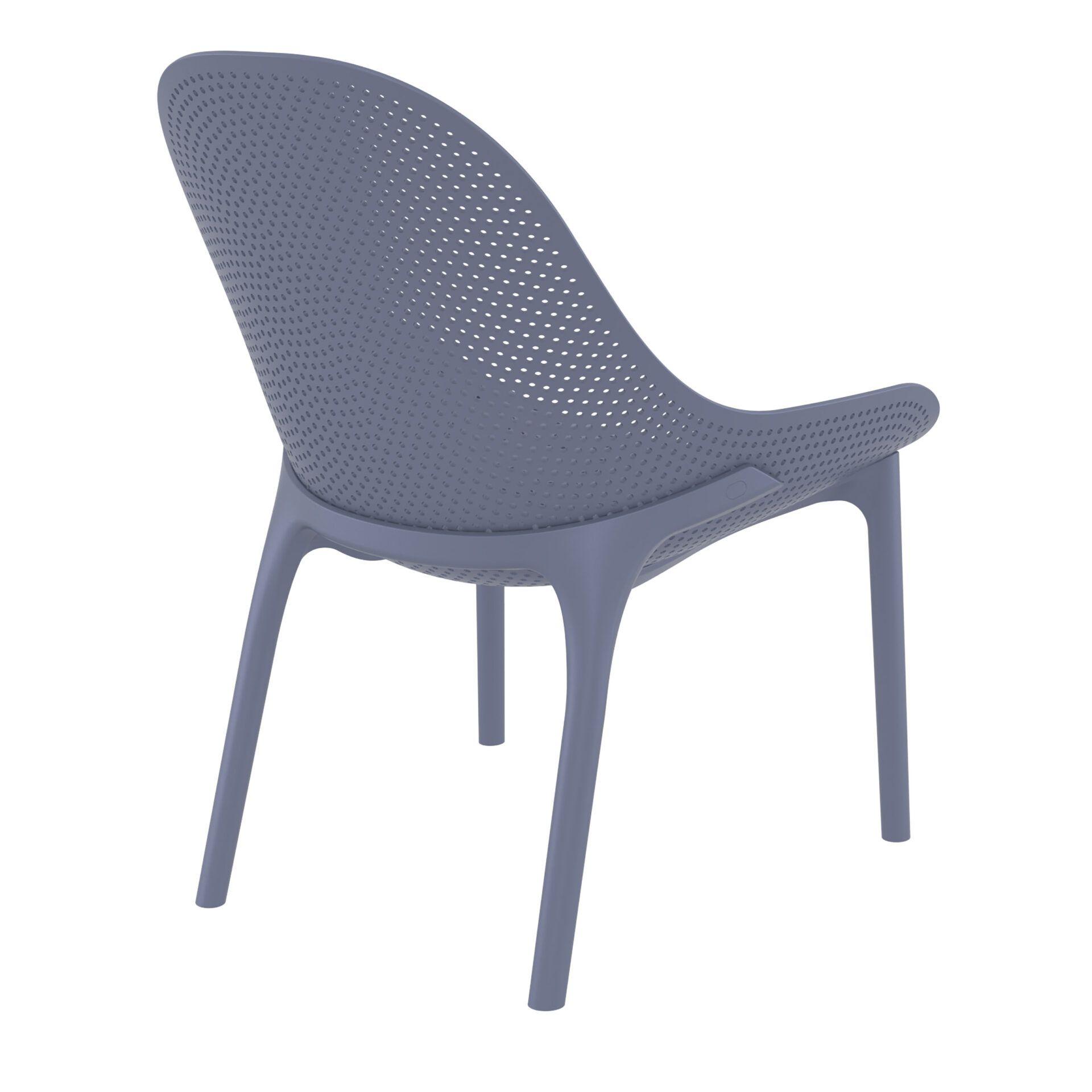 outdoor seating polypropylene sky lounge darkgrey back side