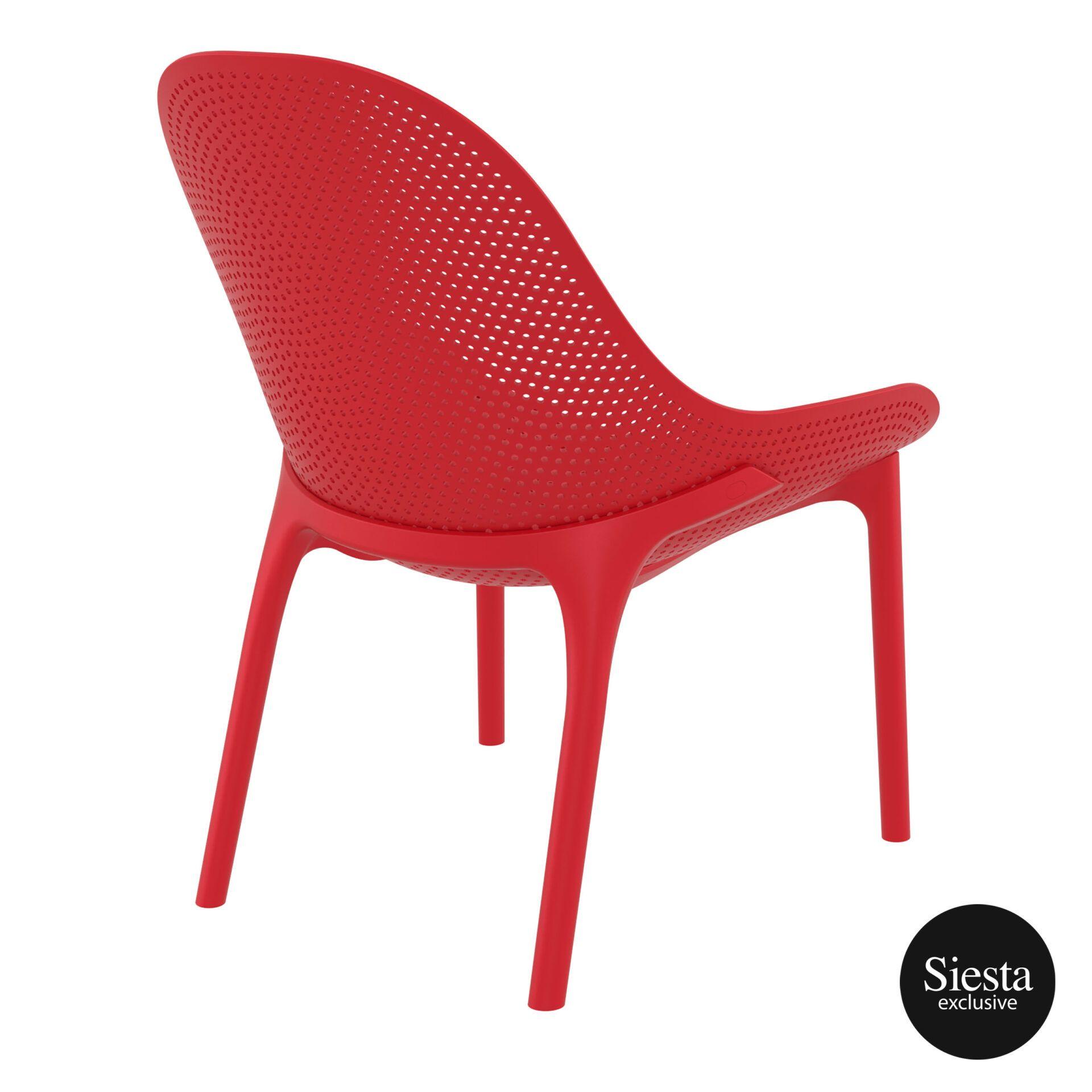 outdoor seating polypropylene sky lounge red back side 1
