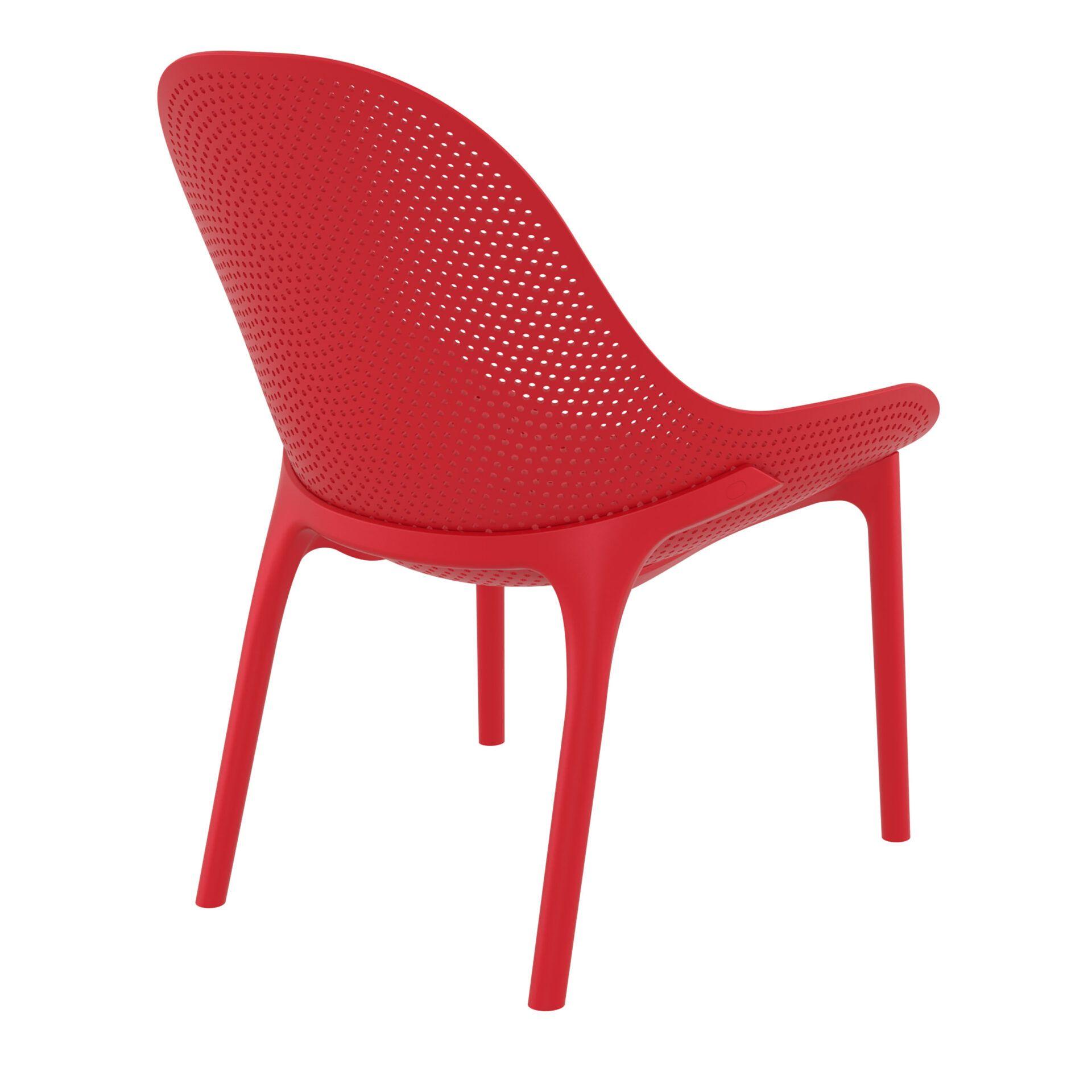 outdoor seating polypropylene sky lounge red back side