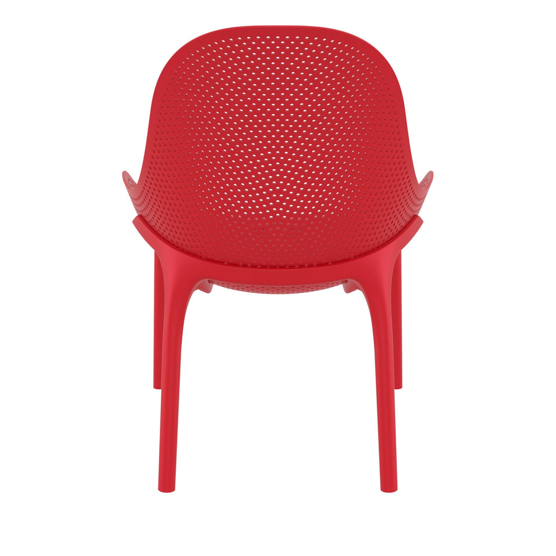 outdoor seating polypropylene sky lounge red back