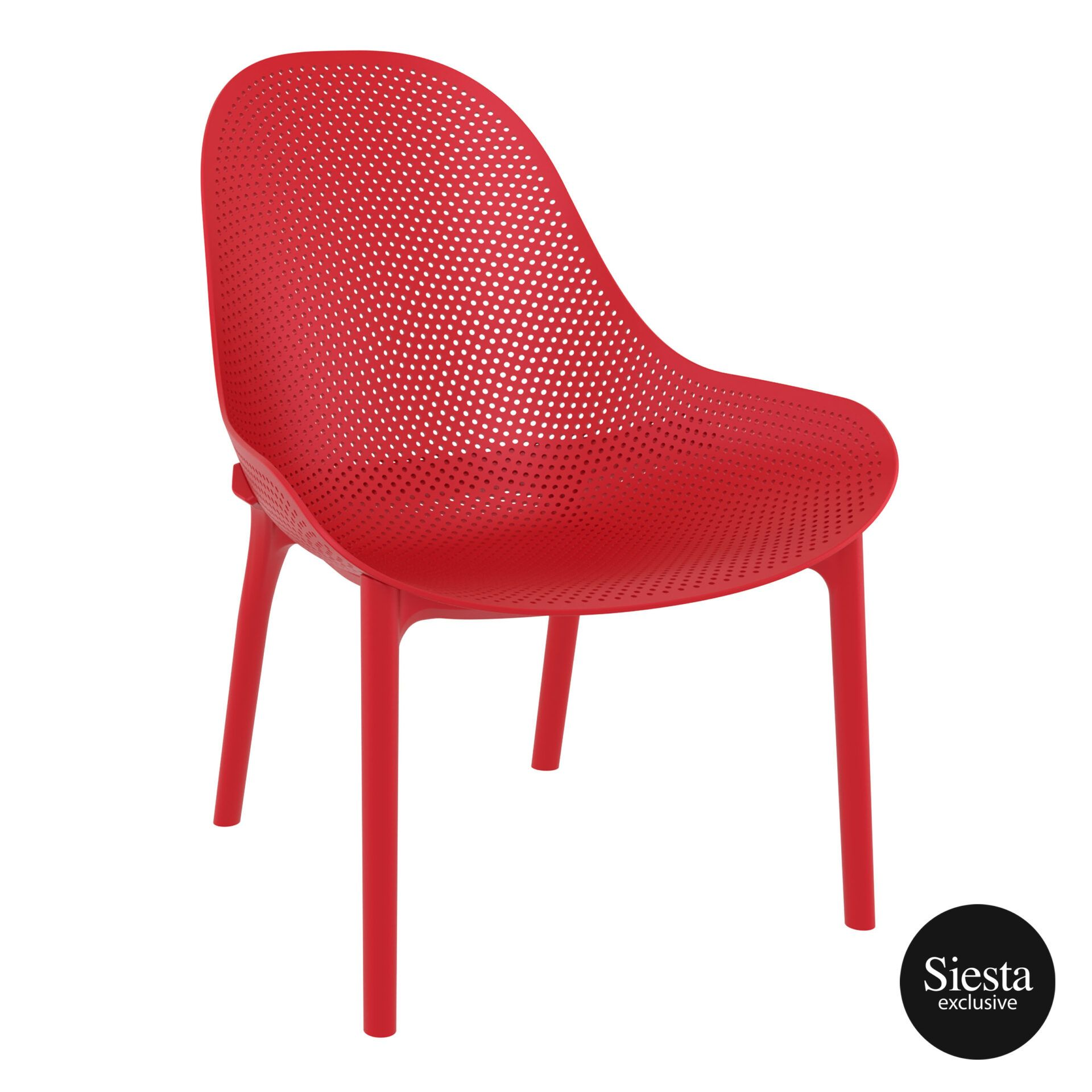 outdoor seating polypropylene sky lounge red front side 1