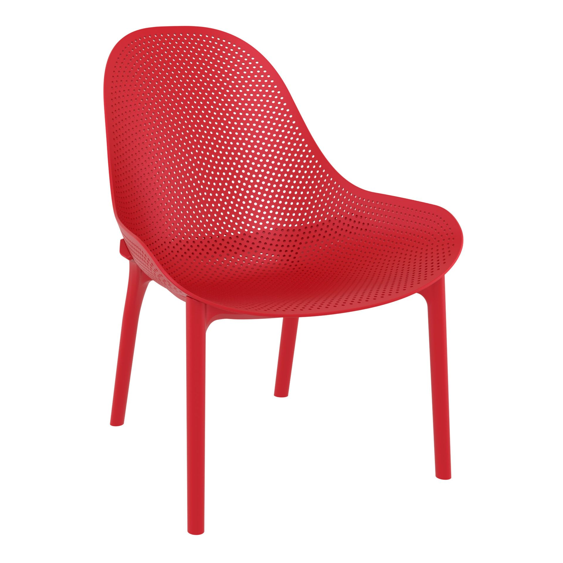 outdoor seating polypropylene sky lounge red front side