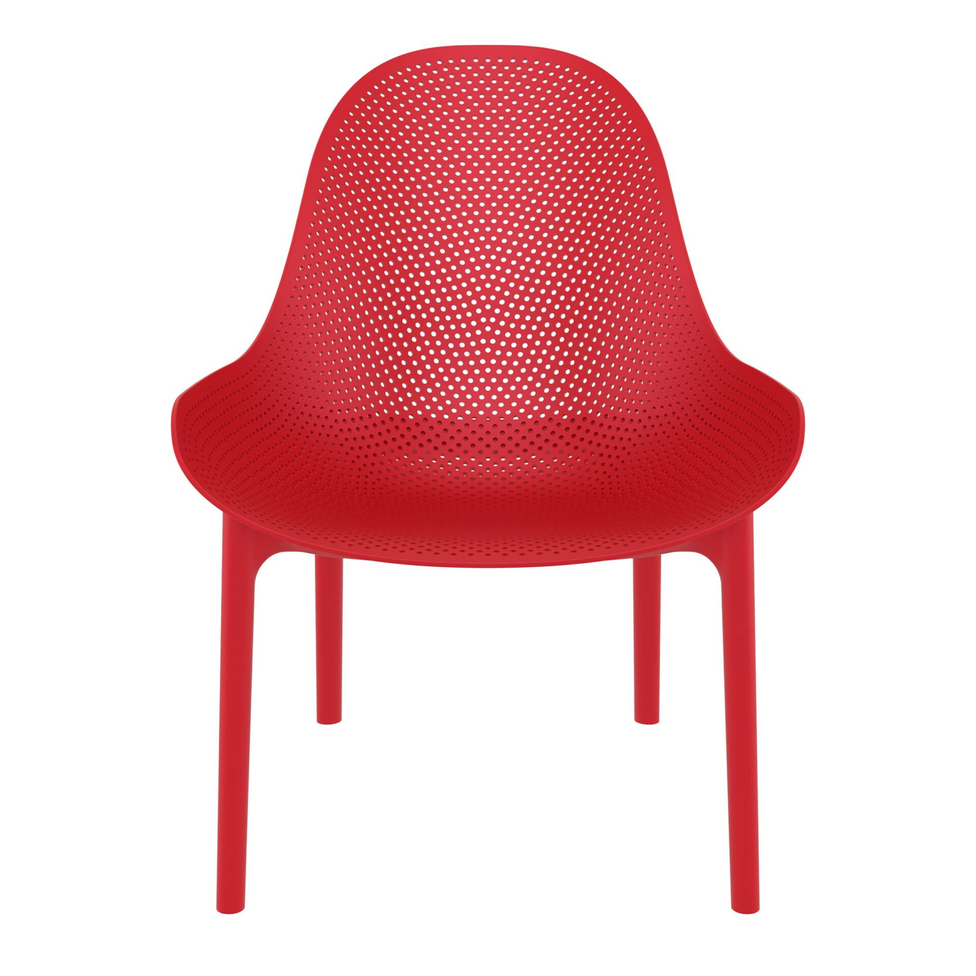 outdoor seating polypropylene sky lounge red front