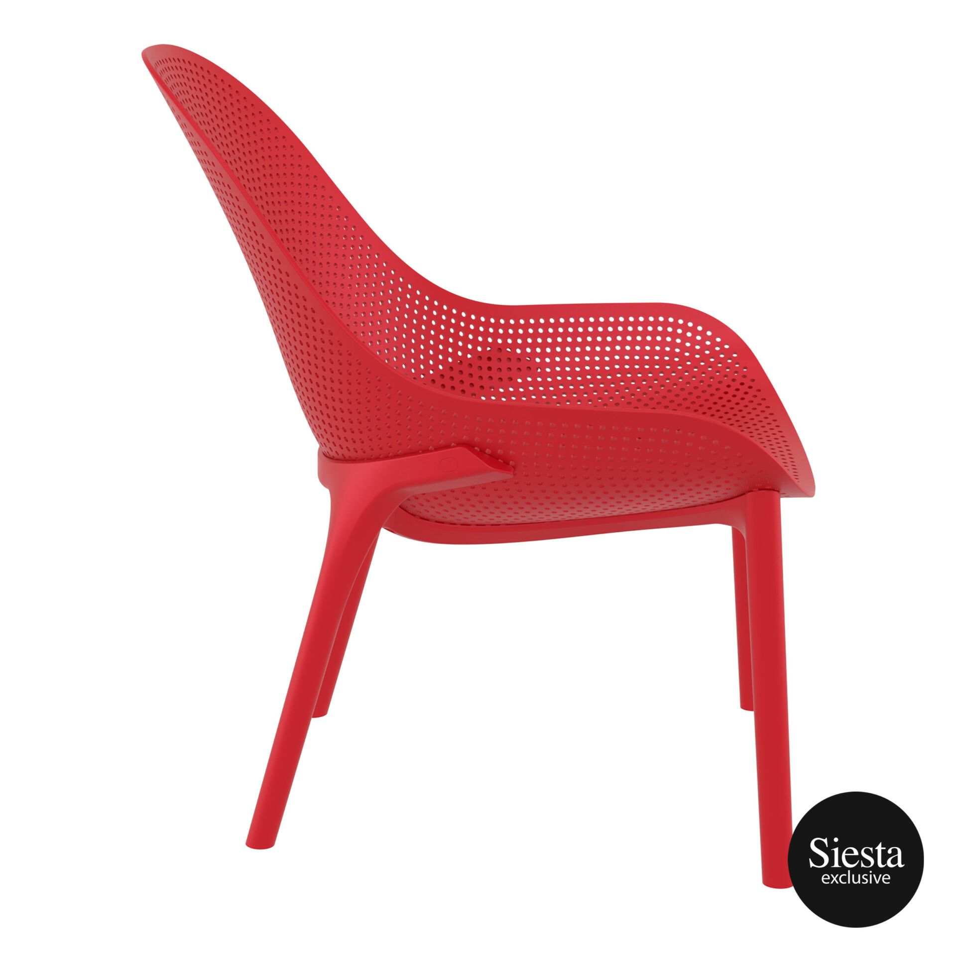 outdoor seating polypropylene sky lounge red side 1