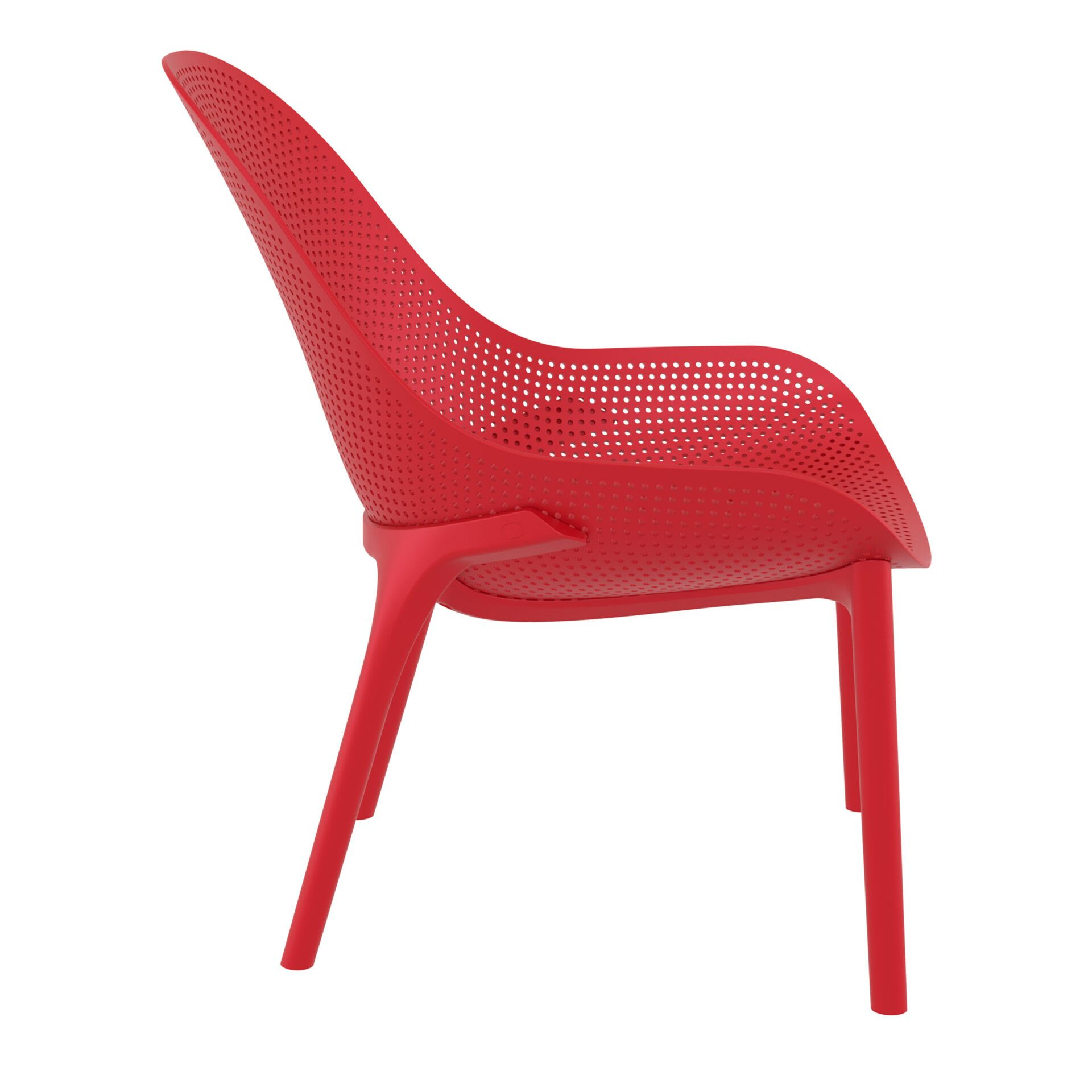outdoor seating polypropylene sky lounge red side