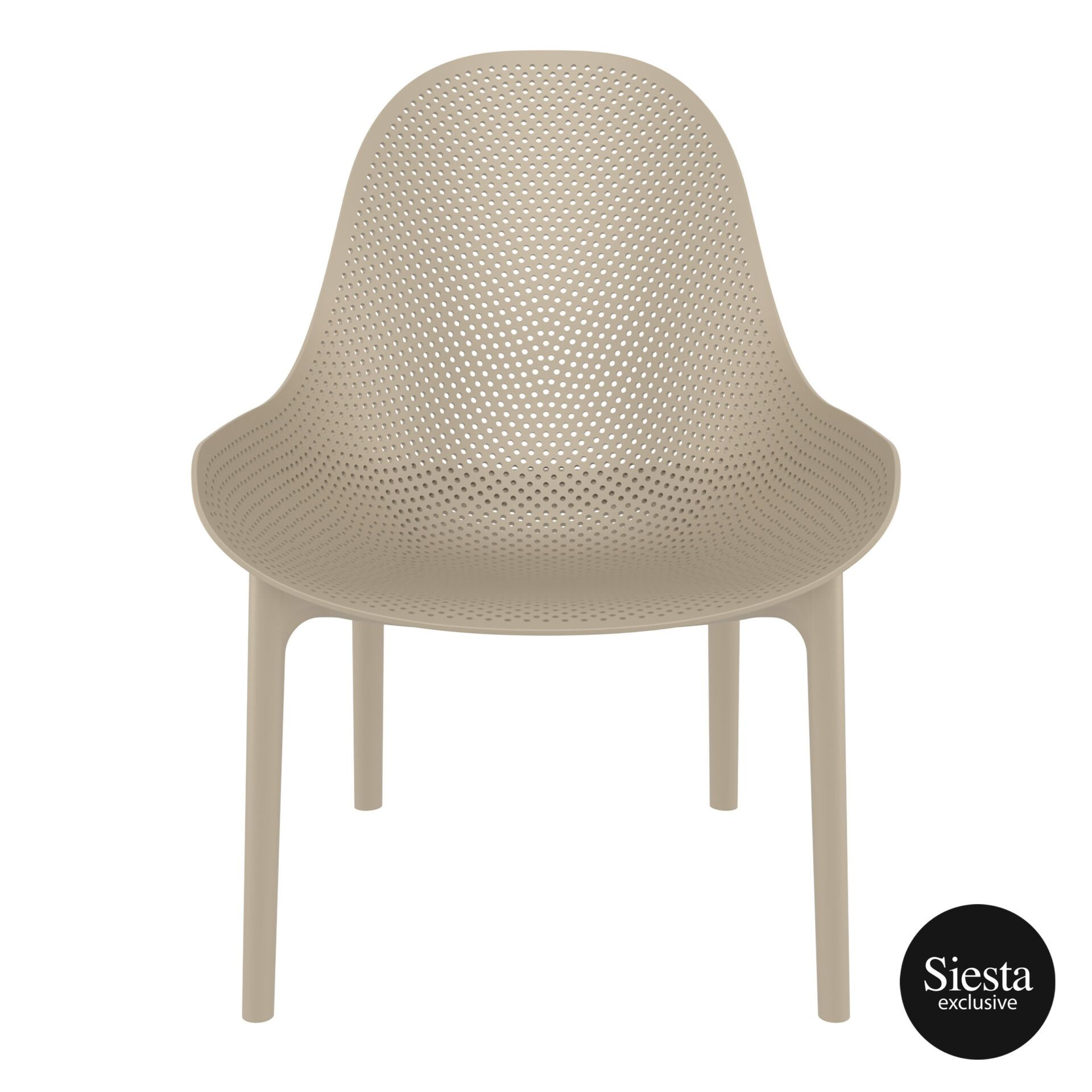 outdoor seating polypropylene sky lounge taupe front 1