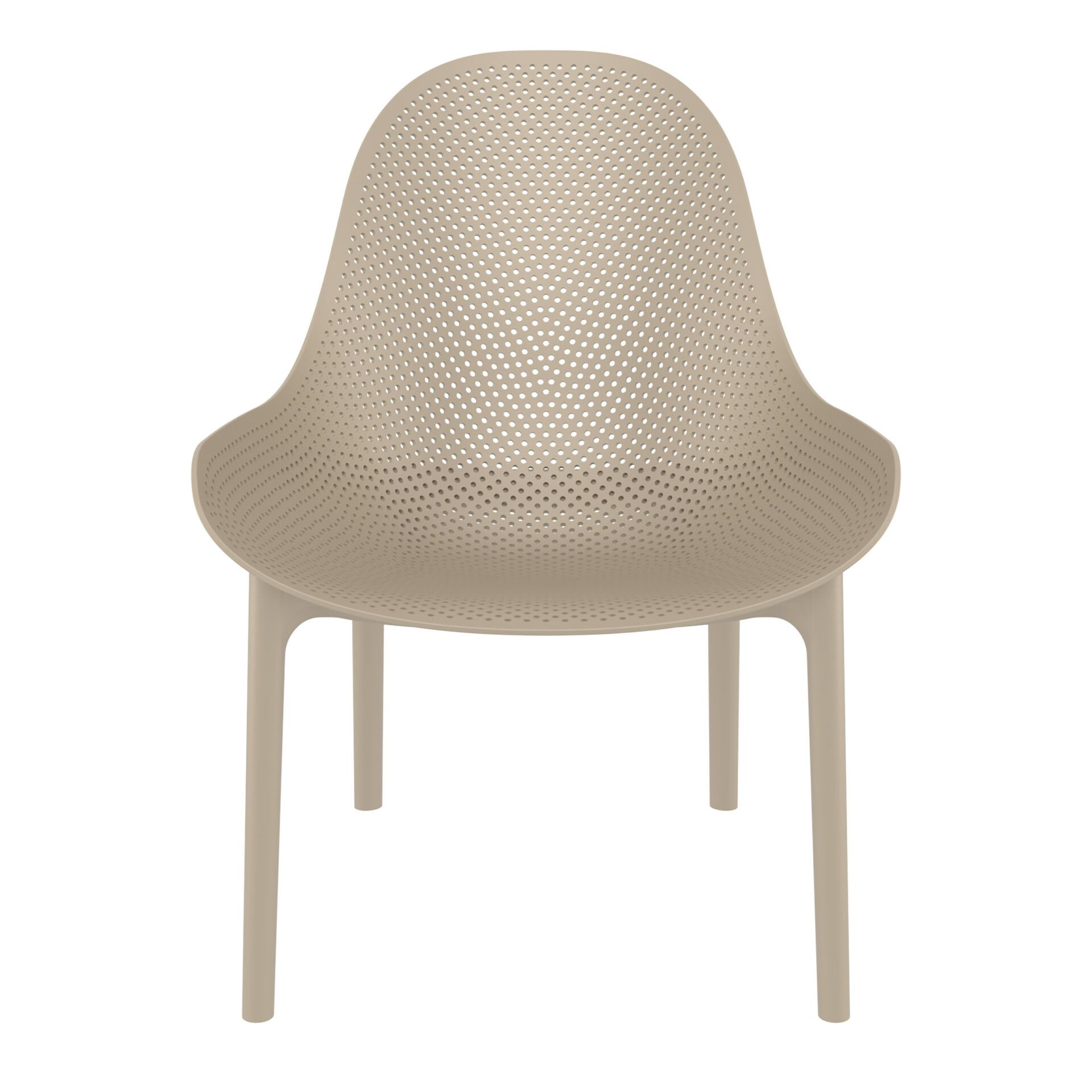 outdoor seating polypropylene sky lounge taupe front