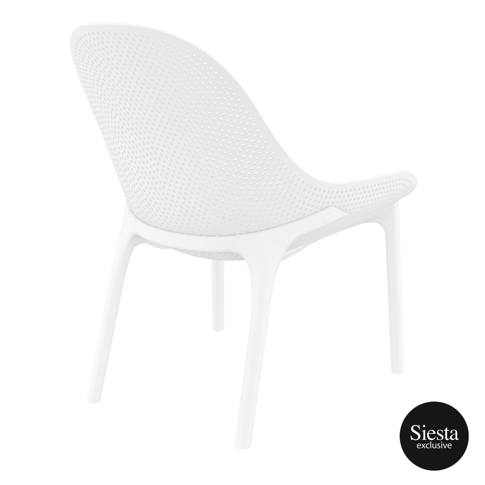 outdoor seating polypropylene sky lounge white back side 1