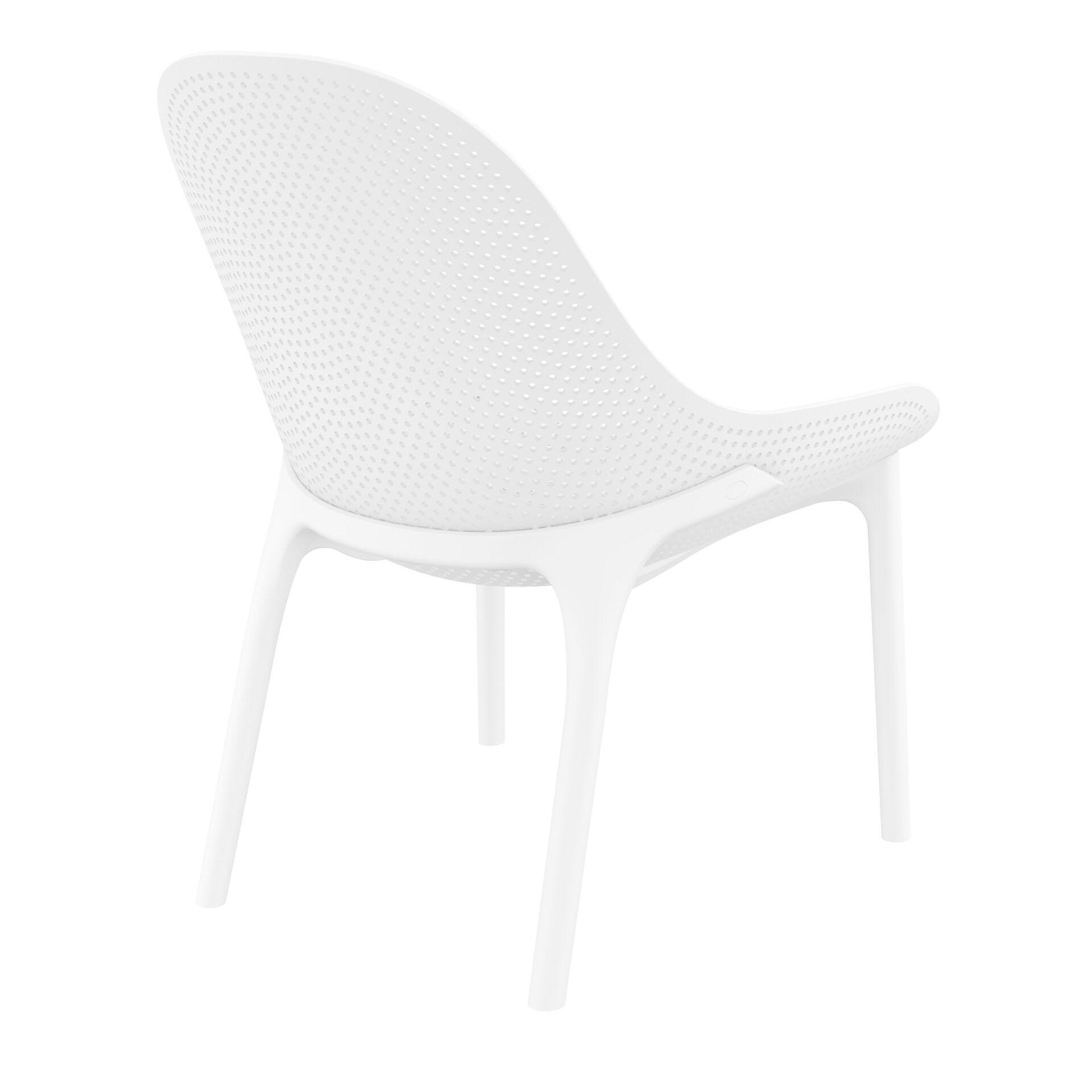 outdoor seating polypropylene sky lounge white back side