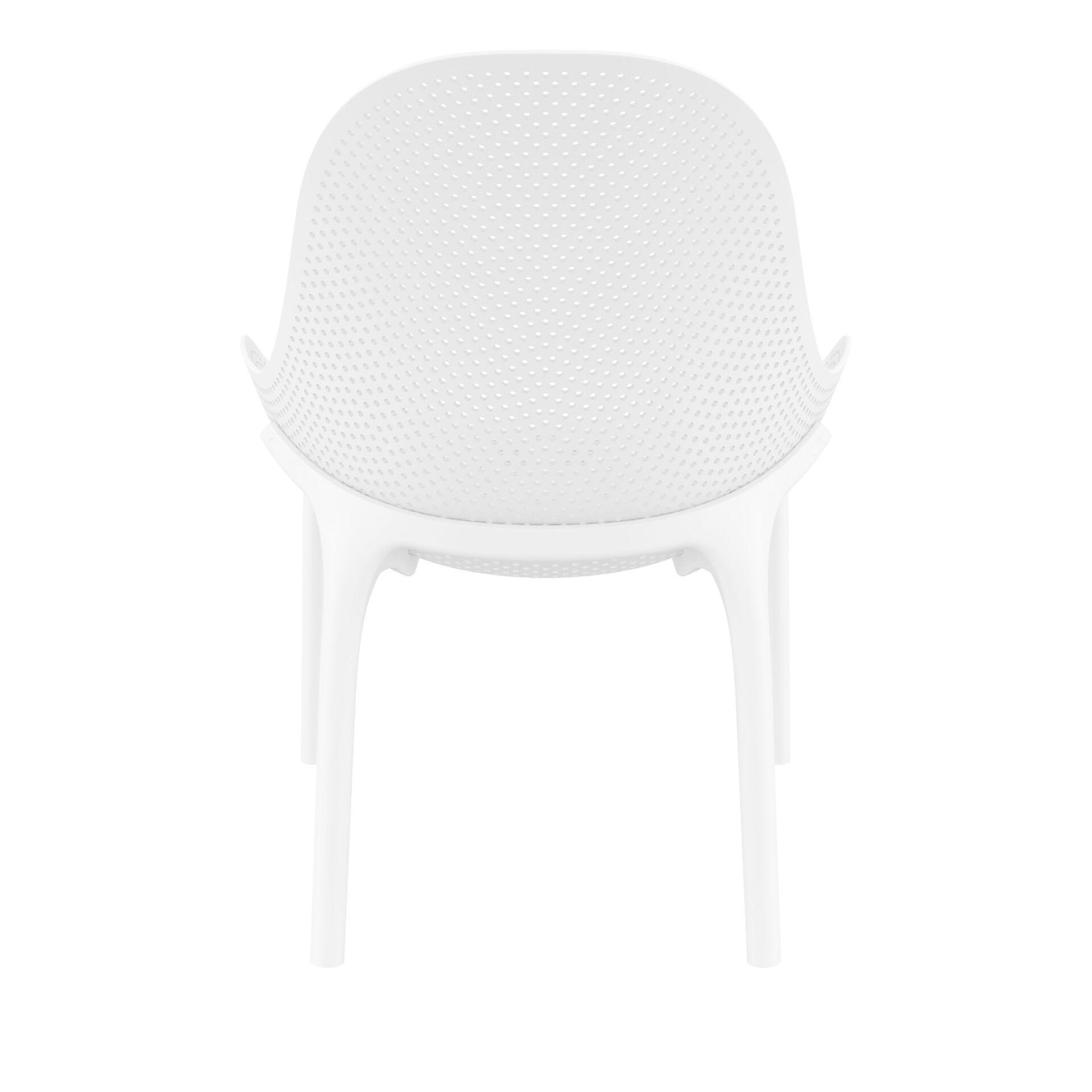 outdoor seating polypropylene sky lounge white back