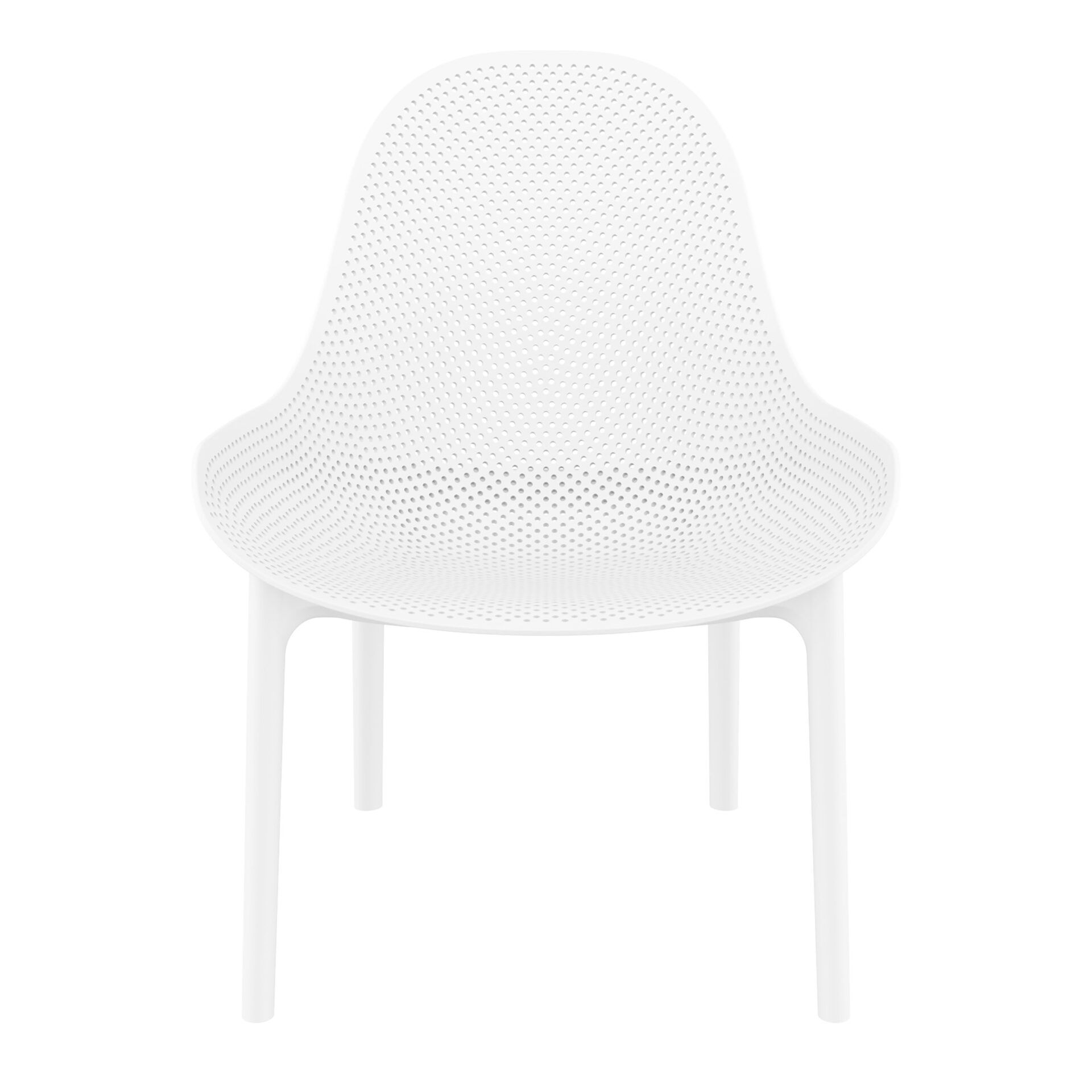 outdoor seating polypropylene sky lounge white front