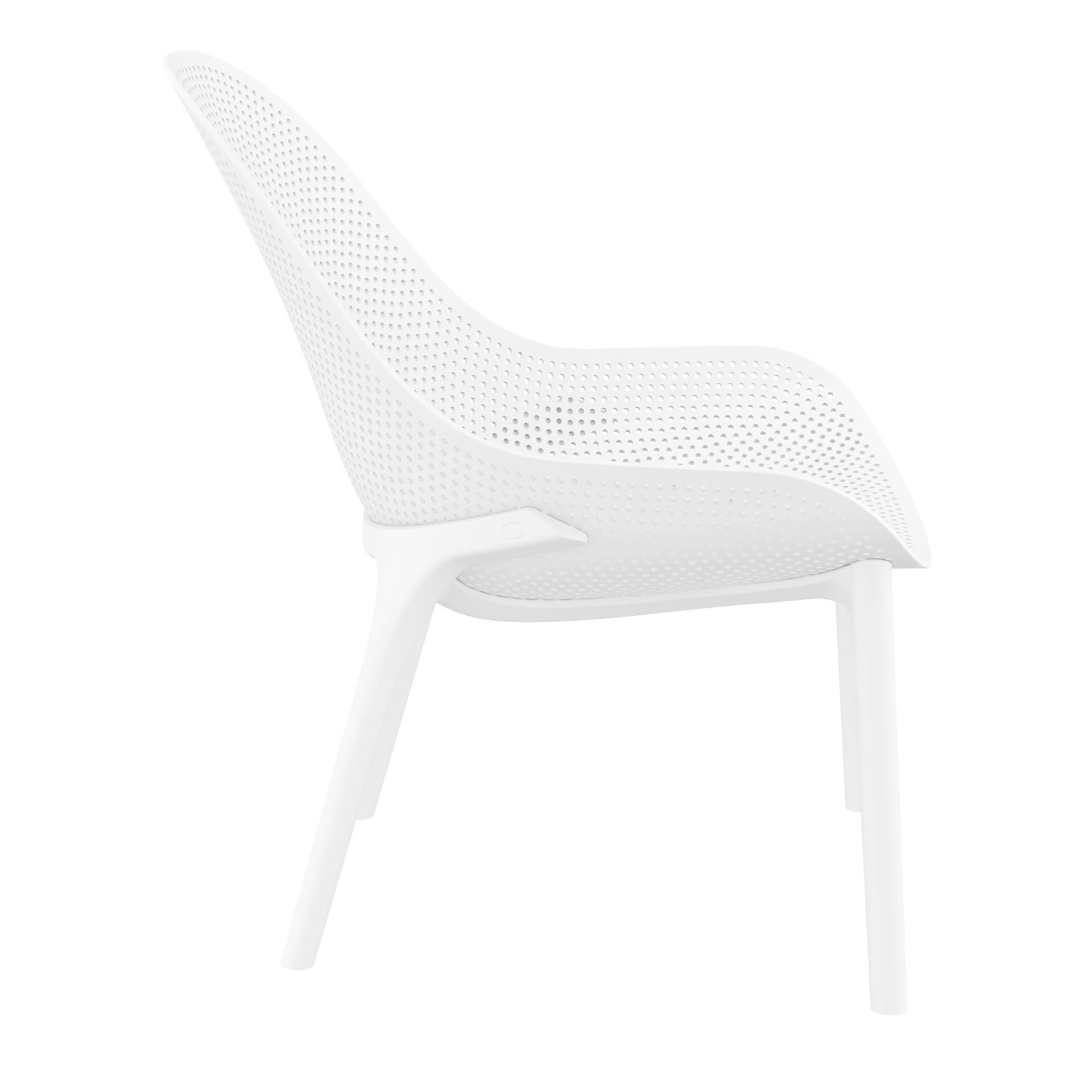 outdoor seating polypropylene sky lounge white side