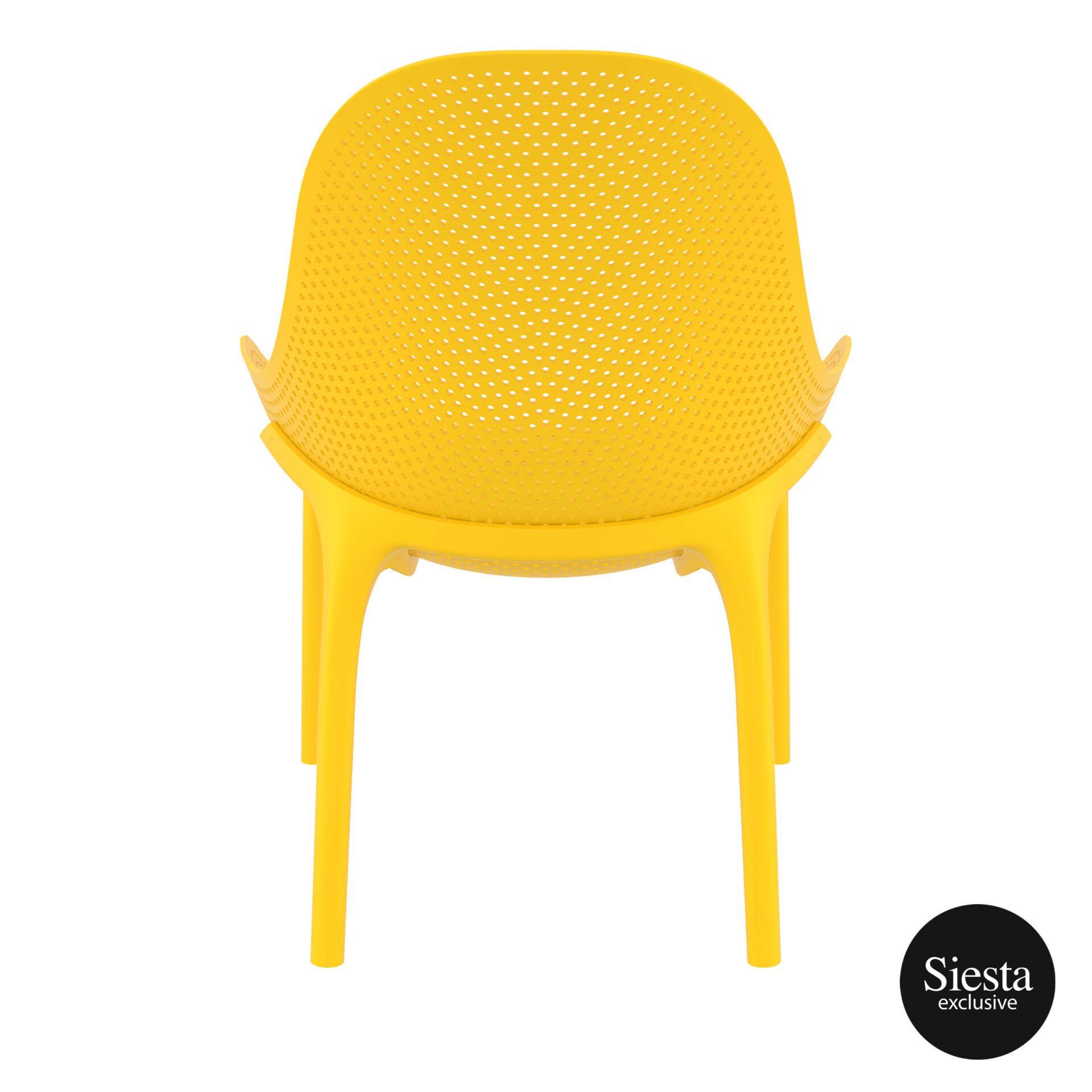 outdoor seating polypropylene sky lounge yellow back 1