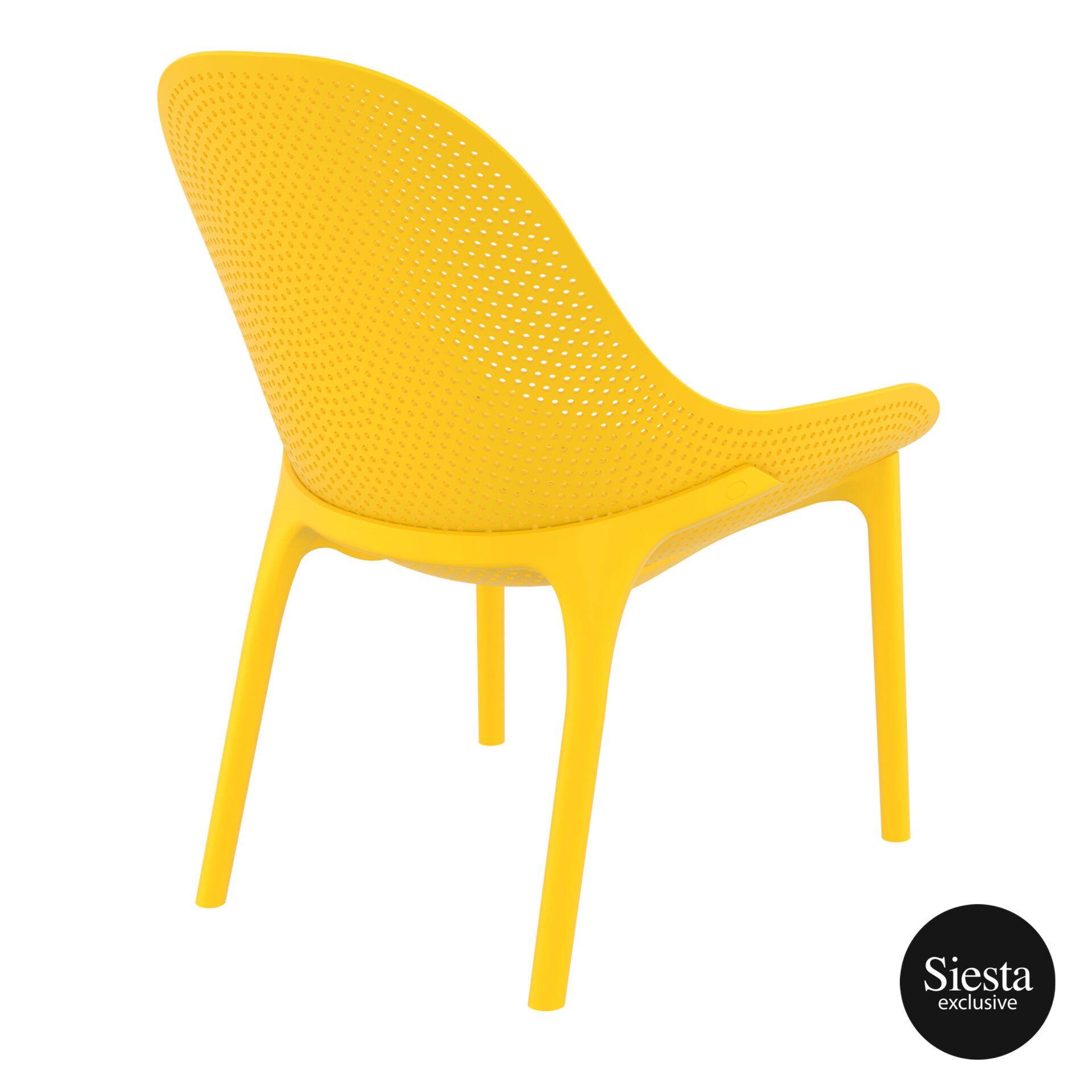 outdoor seating polypropylene sky lounge yellow back side 1