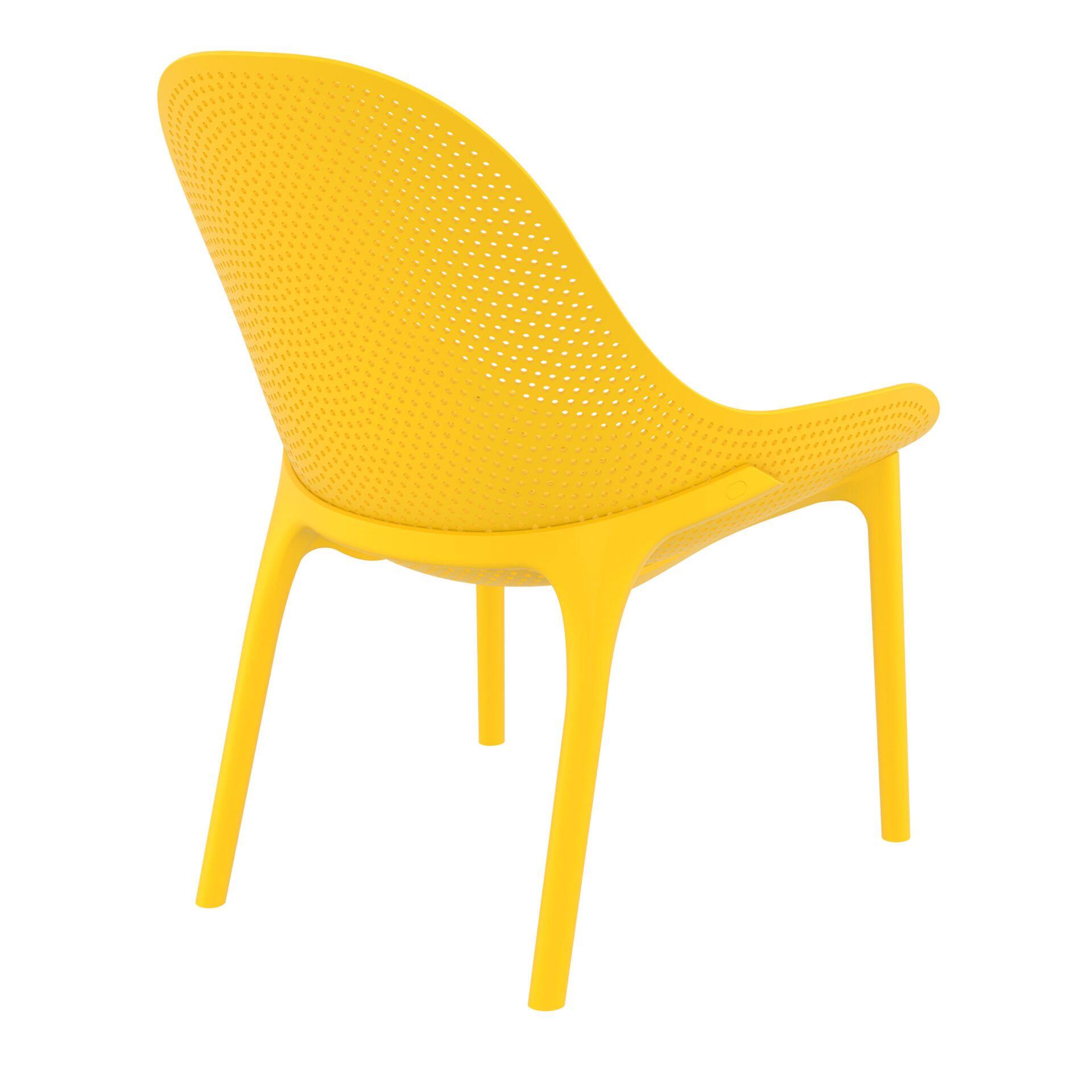 outdoor seating polypropylene sky lounge yellow back side