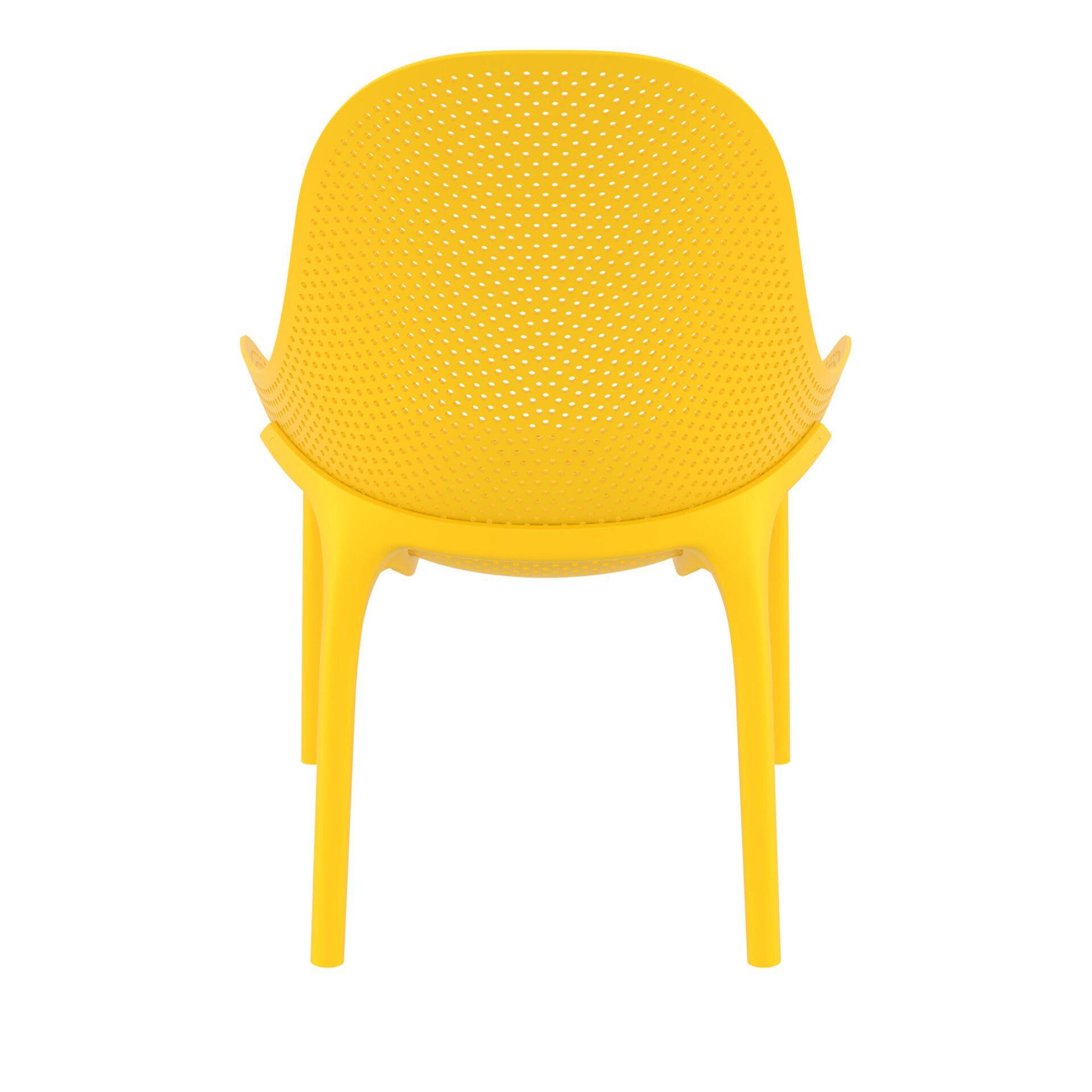 outdoor seating polypropylene sky lounge yellow back