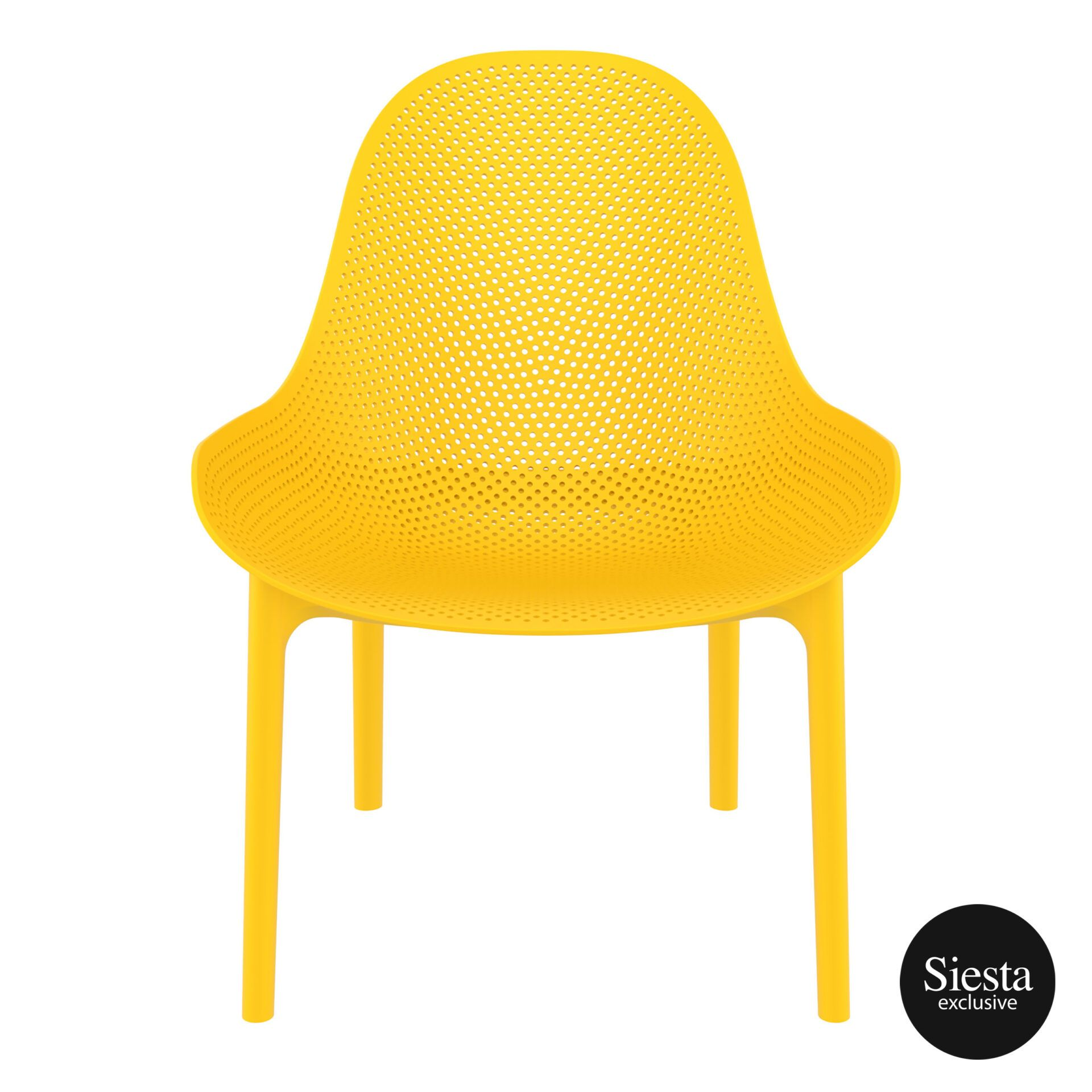outdoor seating polypropylene sky lounge yellow front 1