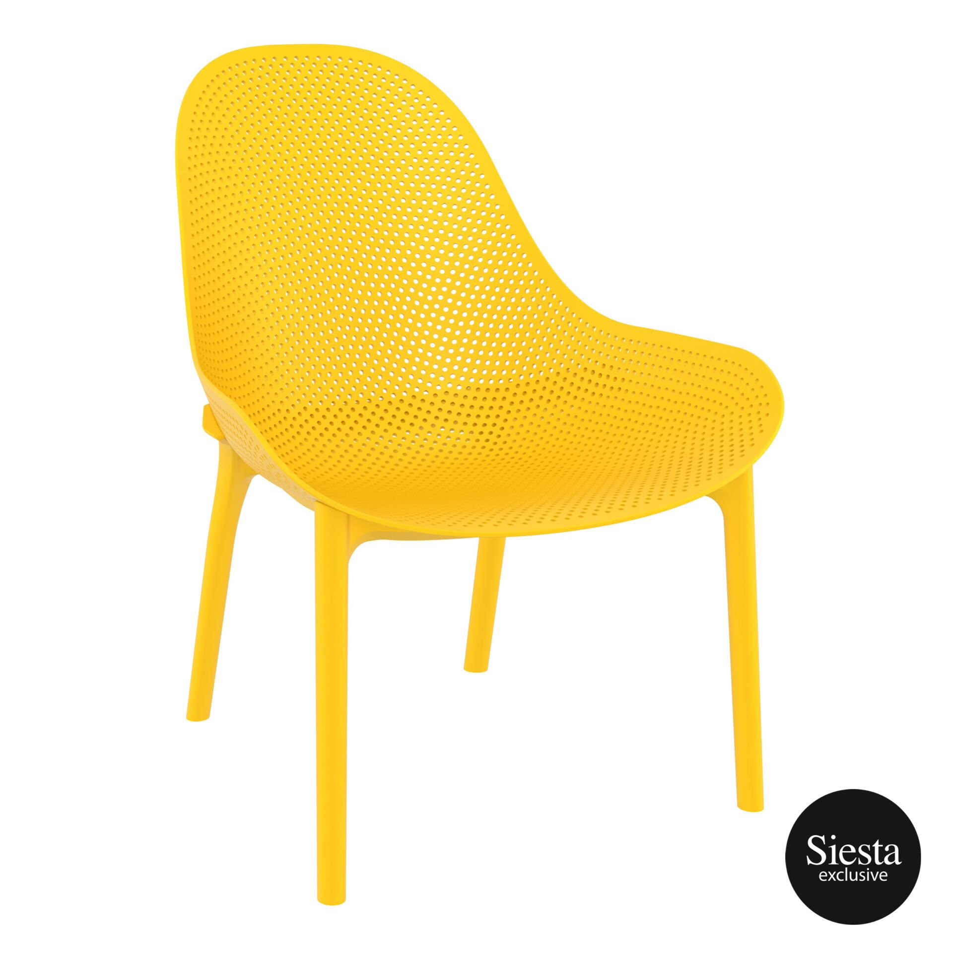 outdoor seating polypropylene sky lounge yellow front side 1