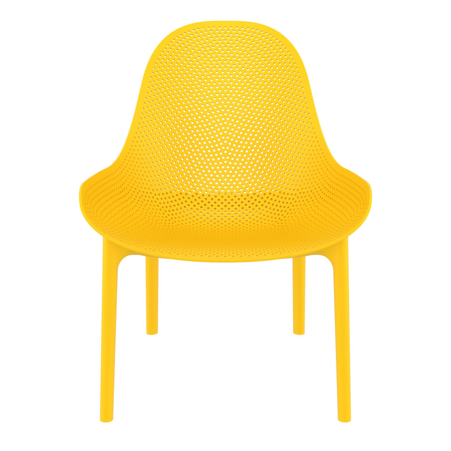 outdoor seating polypropylene sky lounge yellow front