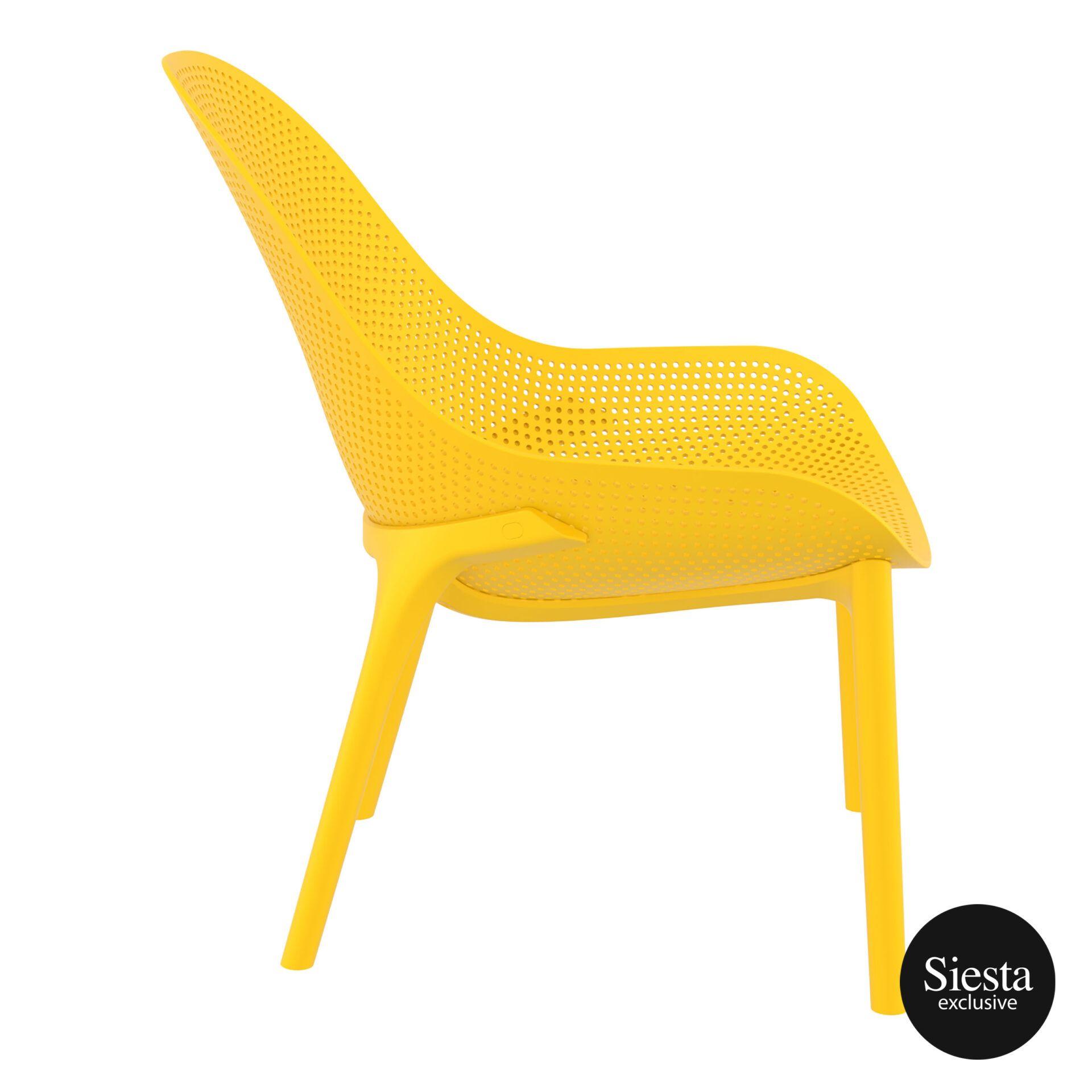 outdoor seating polypropylene sky lounge yellow side 1