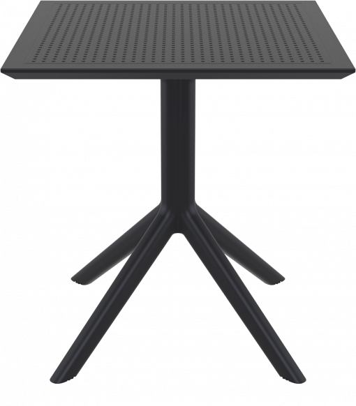 Sky Table 70 - Black - Front