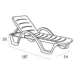 Havana Sunlounger - Tech Dimensions