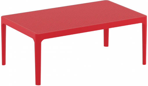 Sky Lounge Table - Red - Front Side