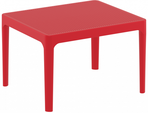 Sky Side Table - Red - Front Side
