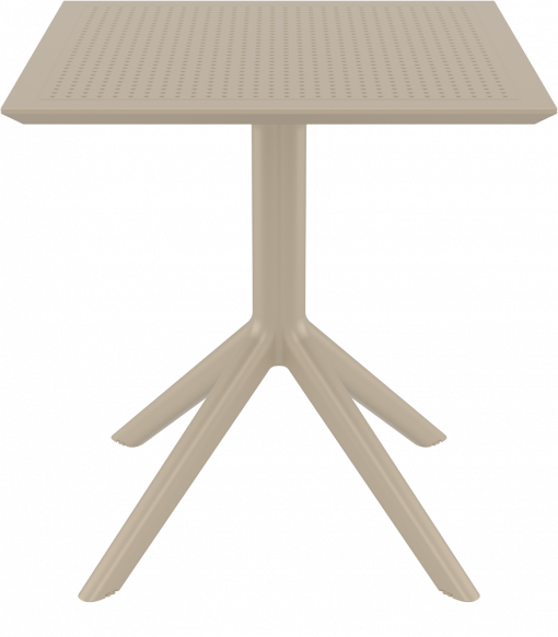Sky Table 70 - Taupe - Front