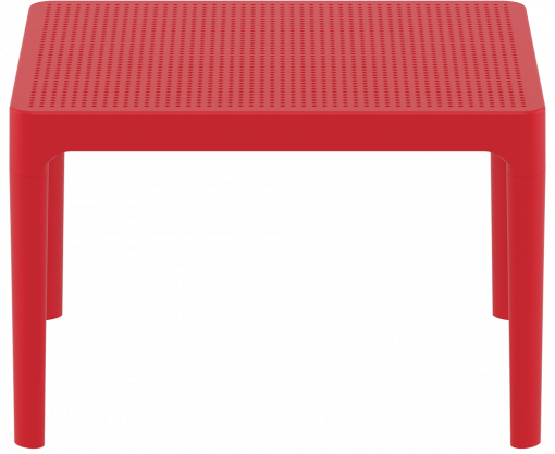 Sky Side Table - Red - Long Edge