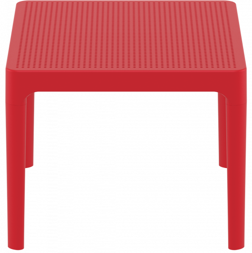 Sky Side Table - Red - Short Edge