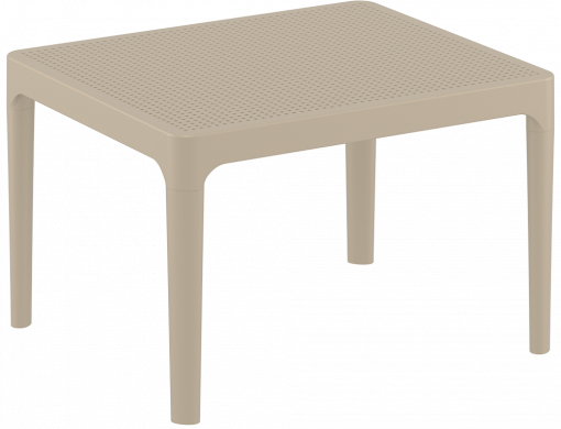 Sky Side Table - Taupe - Front Side