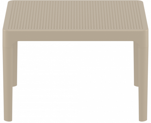 Sky Side Table - Taupe - Long Edge