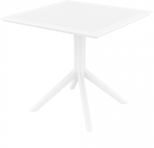 Sky Table - White - Front Side Low