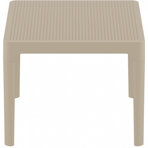 Sky Side Table - Taupe - Short Edge