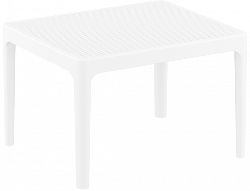 Sky Side Table - White - Front Side