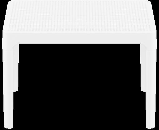 Sky Side Table - White - Front Long Edge