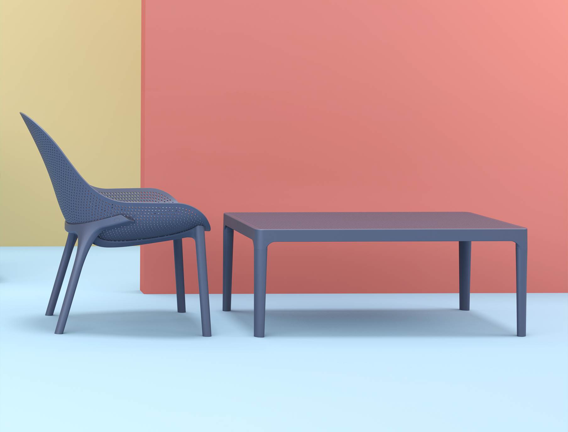 Sky Lounge and Sky Lounge Table in Anthracite