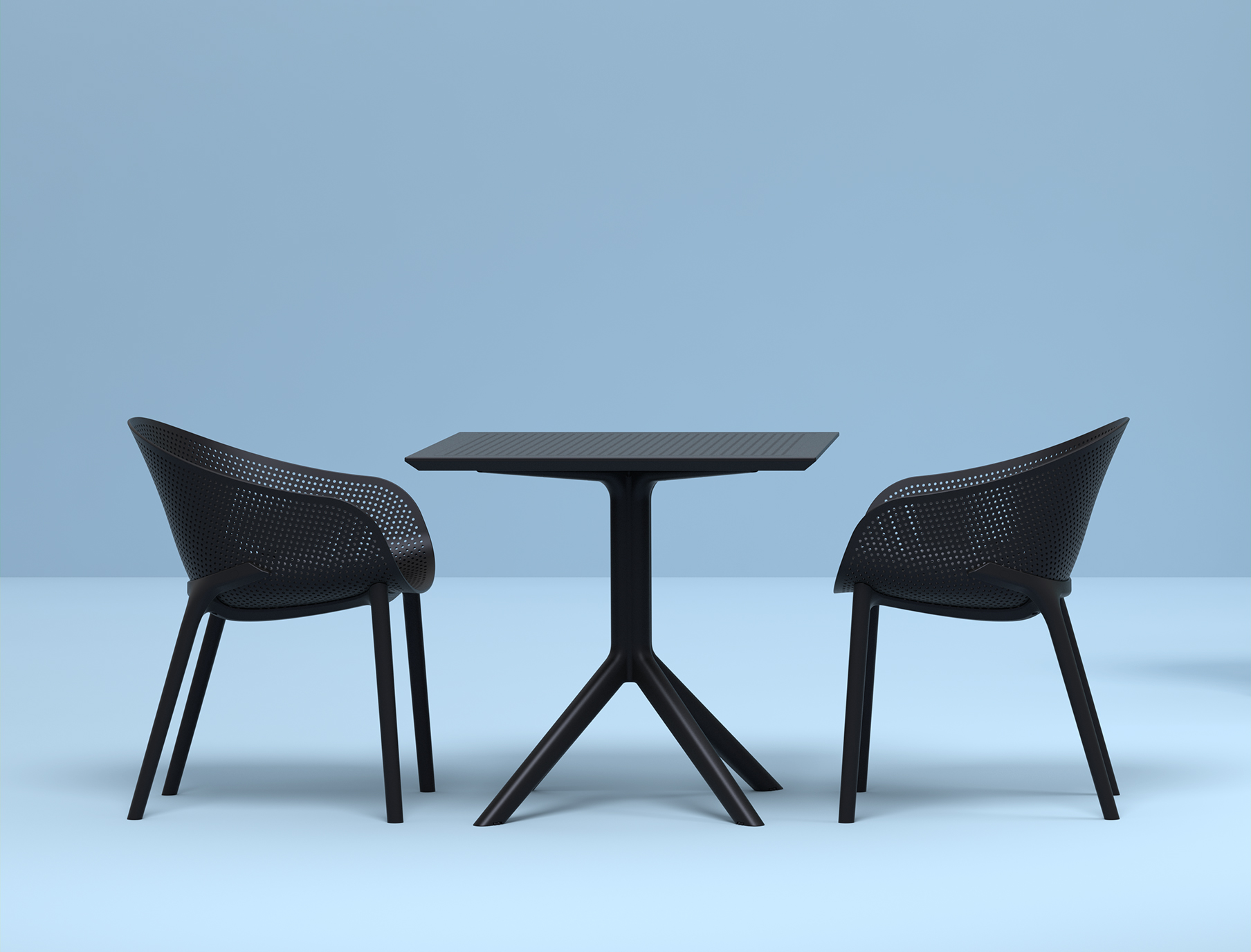 Sky Table & Sky Chair Setting in Black