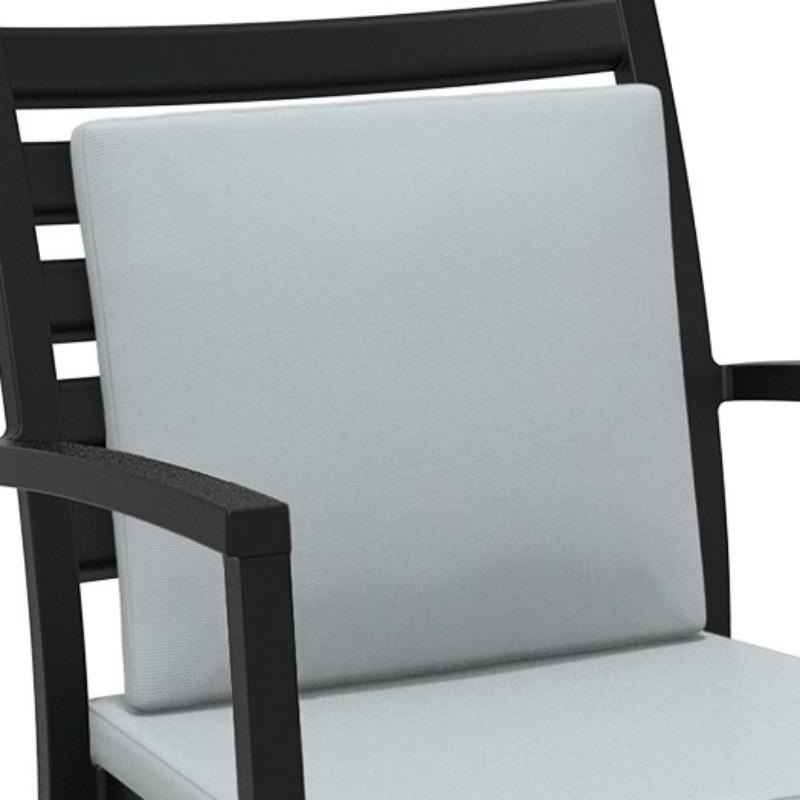 Artemis XL Lounge Armchair Backrest Cushion Light Grey